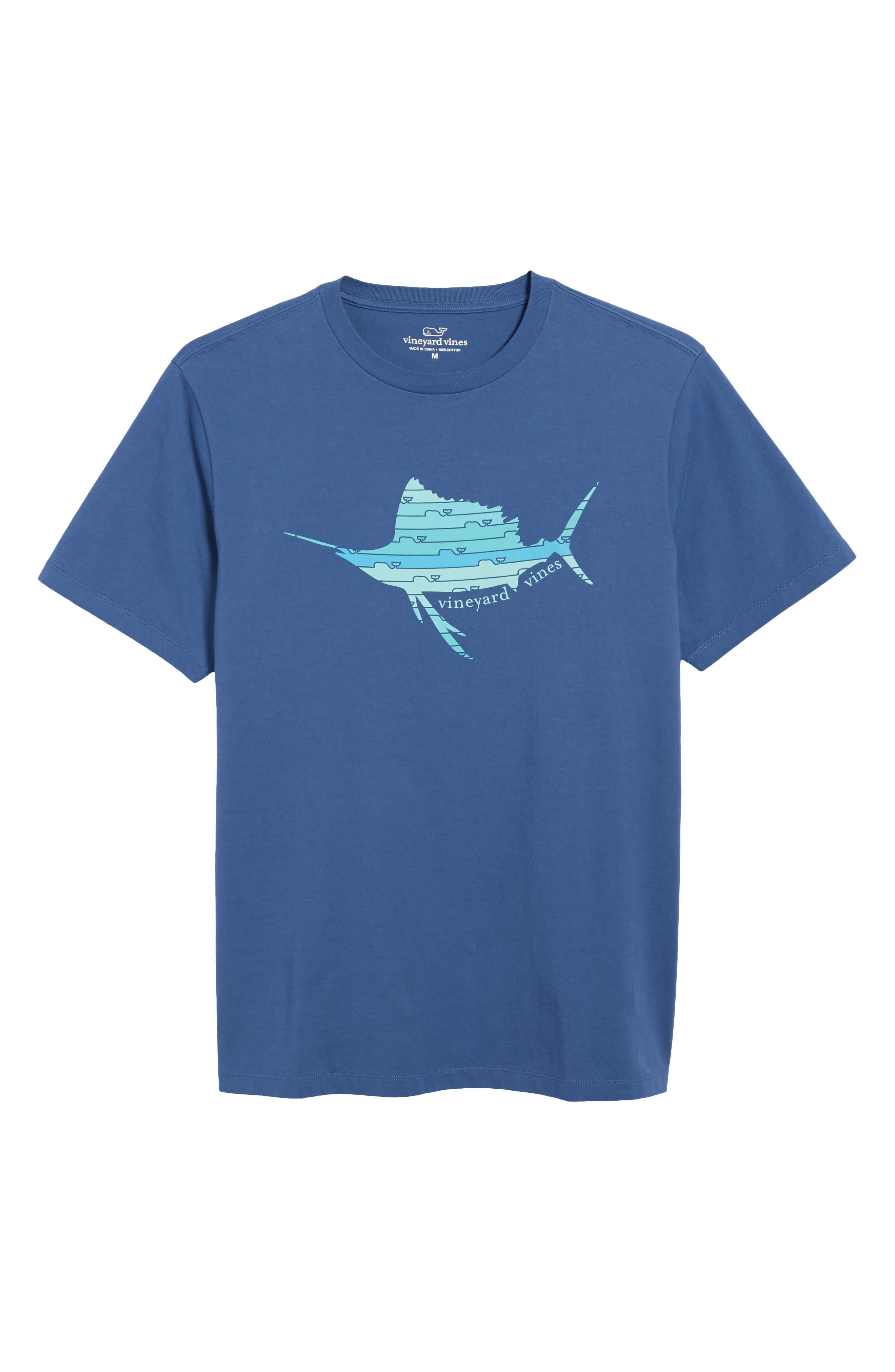 Sailfish Whale Line Graphic T-Shirt,                             Alternate thumbnail 6, color,                             461
