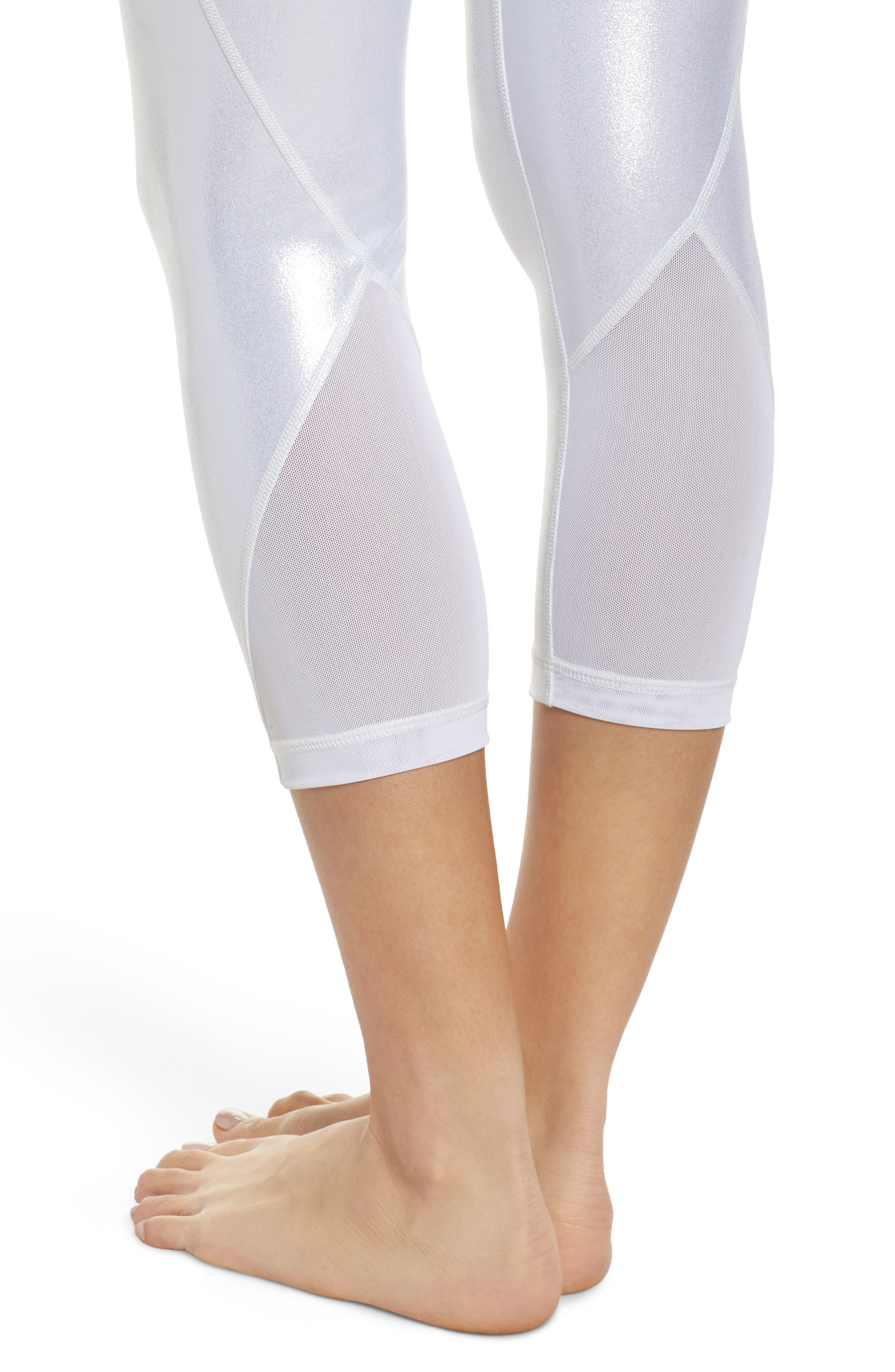 Hatha Glitter High Waist Crop Leggings,                             Alternate thumbnail 4, color,                             040