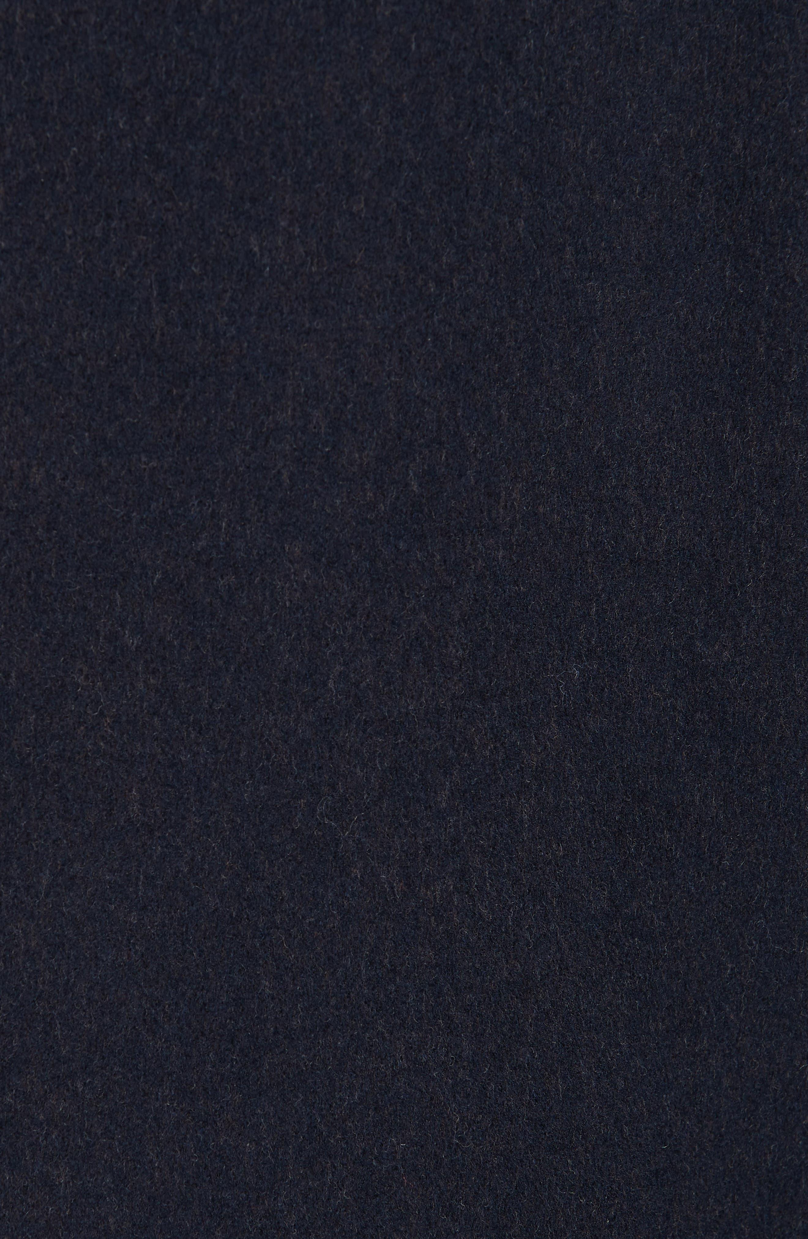 Trim Fit Wool & Cashmere Car Coat,                             Alternate thumbnail 6, color,                             NAVY