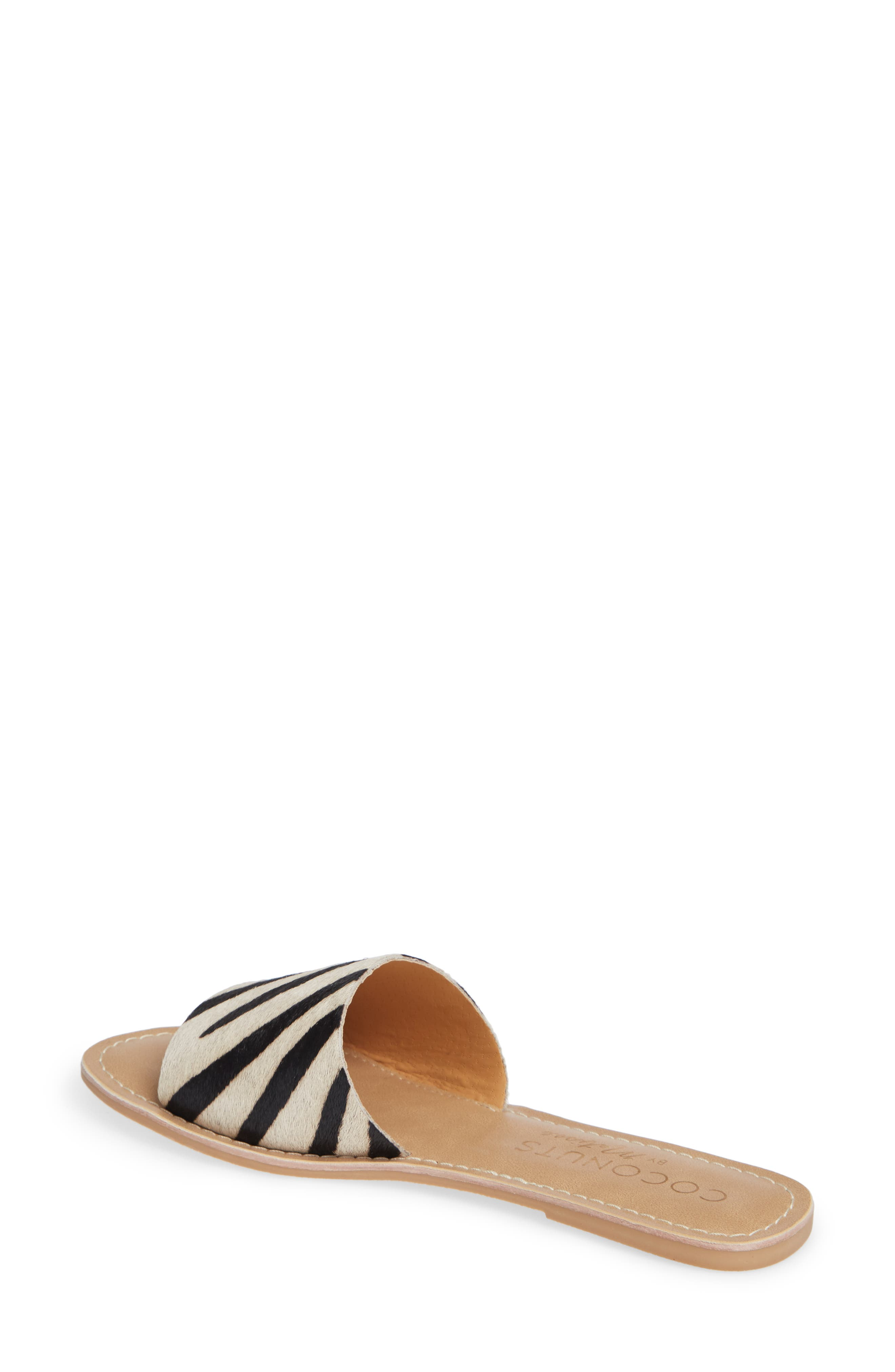 Cabana Genuine Calf Hair Slide Sandal,                             Alternate thumbnail 2, color,                             ZEBRA PRINT CALF HAIR