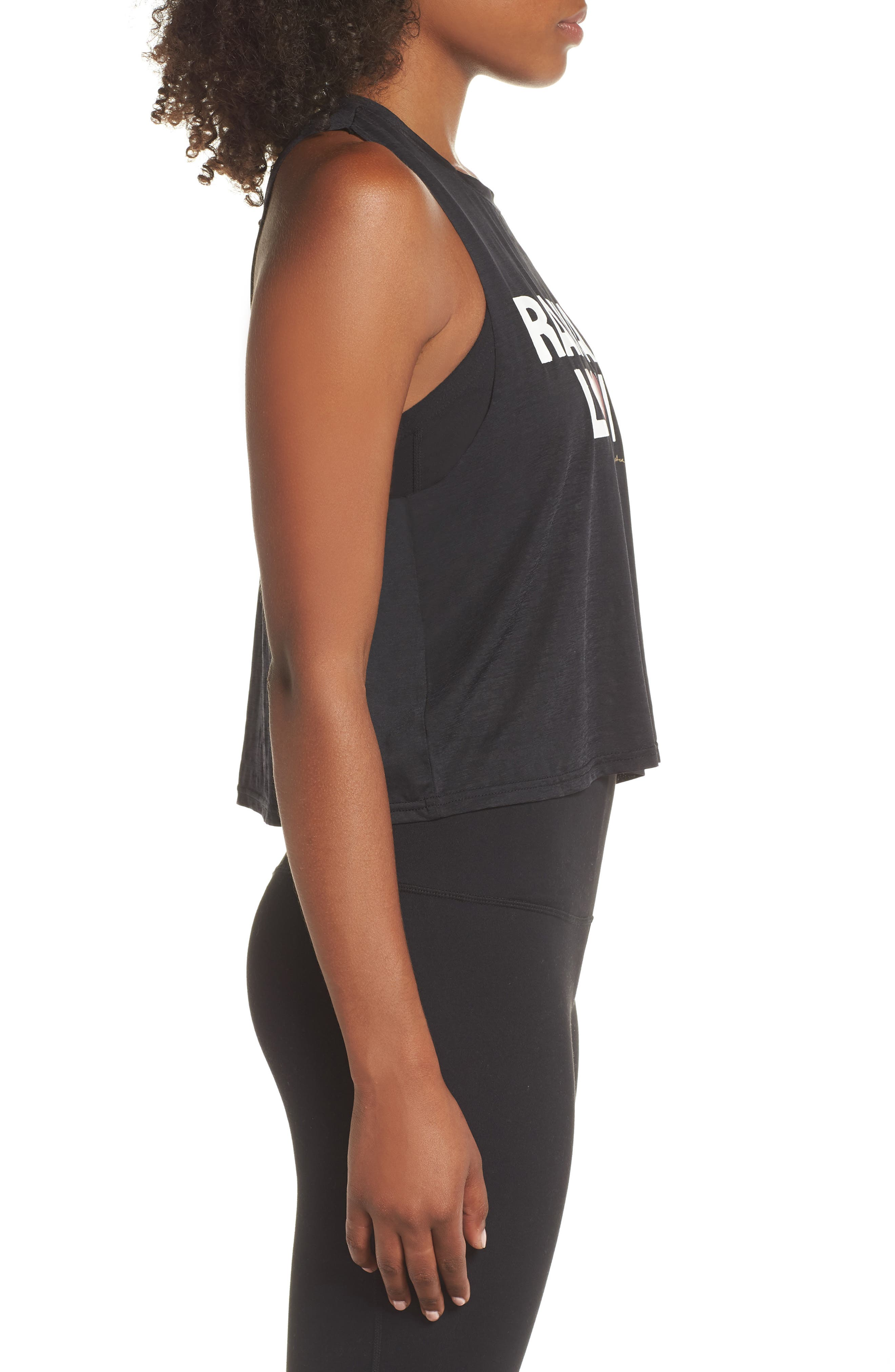 Radiate Love Crop Tank Top,                             Alternate thumbnail 3, color,                             003