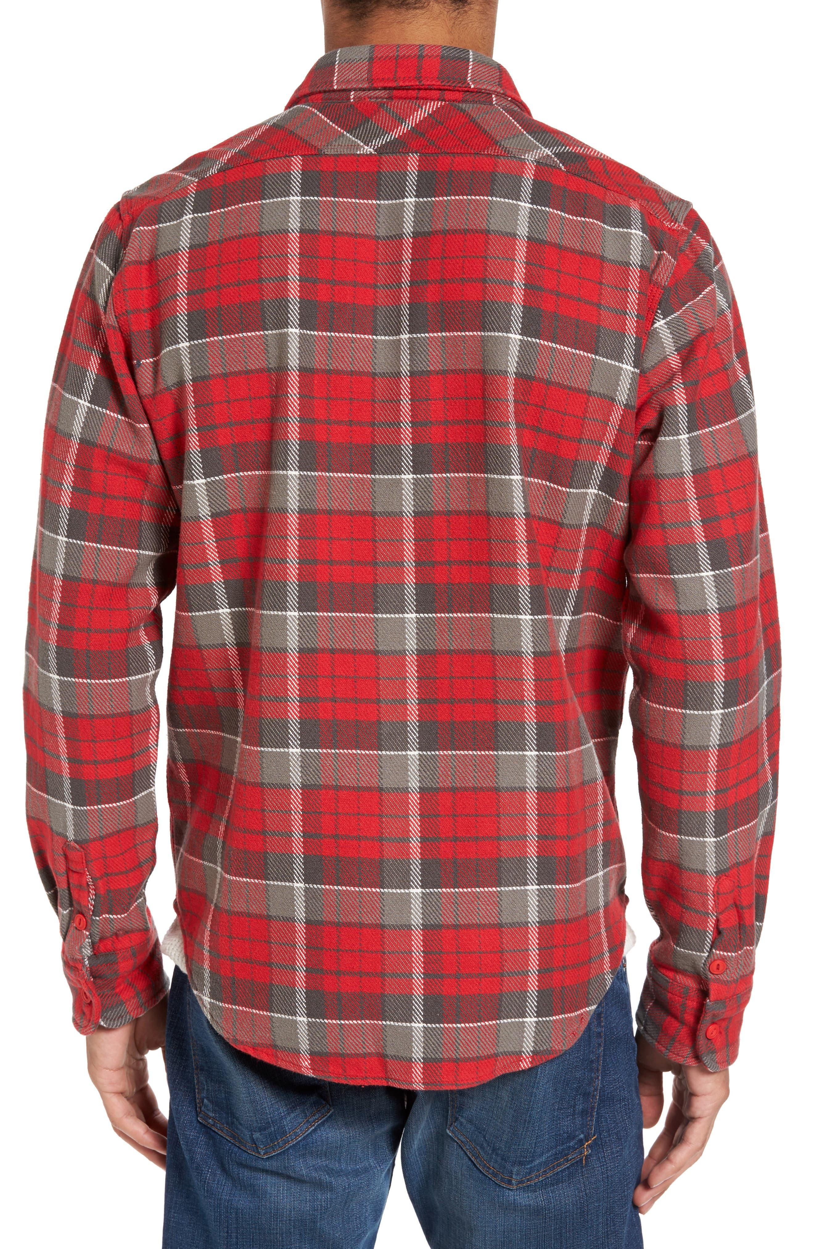 Classic Fit Plaid Flannel Shirt,                             Alternate thumbnail 9, color,