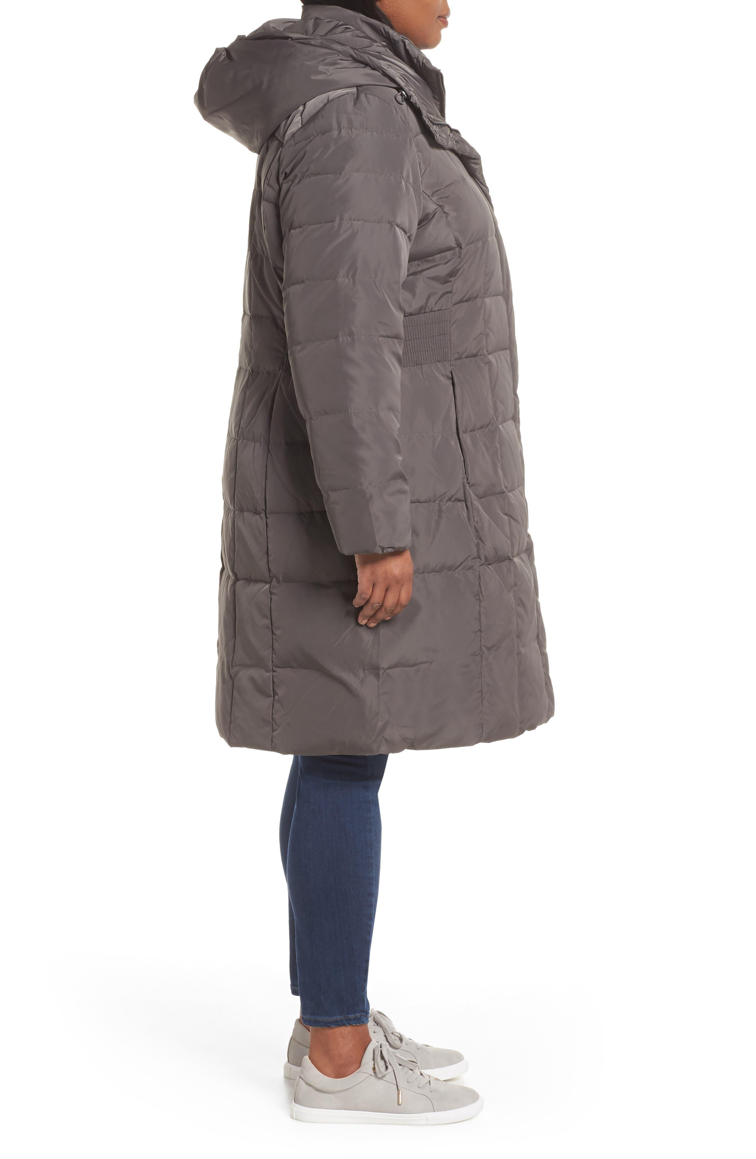 Bib Inset Coat,                             Alternate thumbnail 3, color,                             CARBON