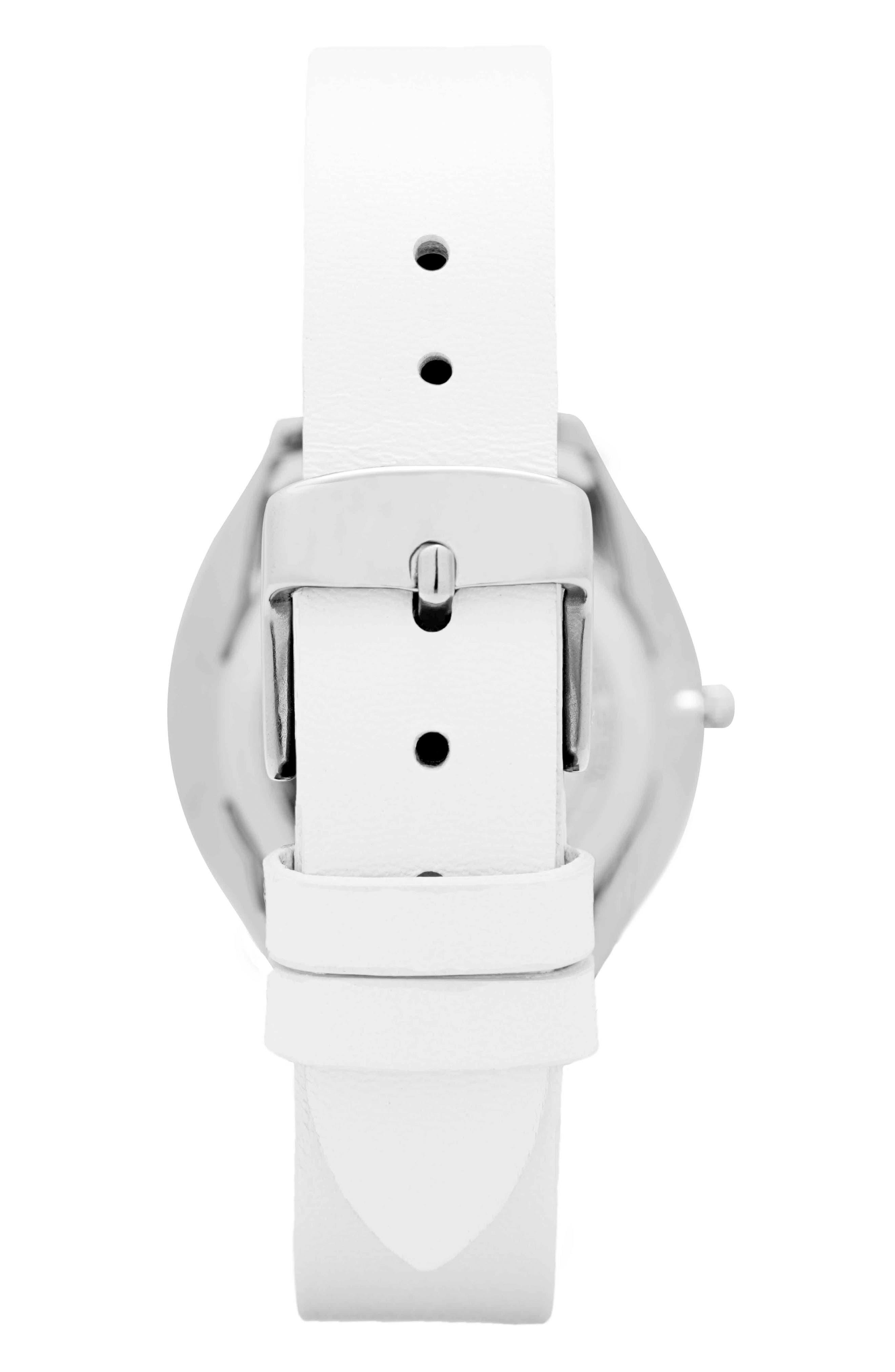 Leonard & Church Chelsea Leather Strap Watch, 34mm,                             Alternate thumbnail 5, color,