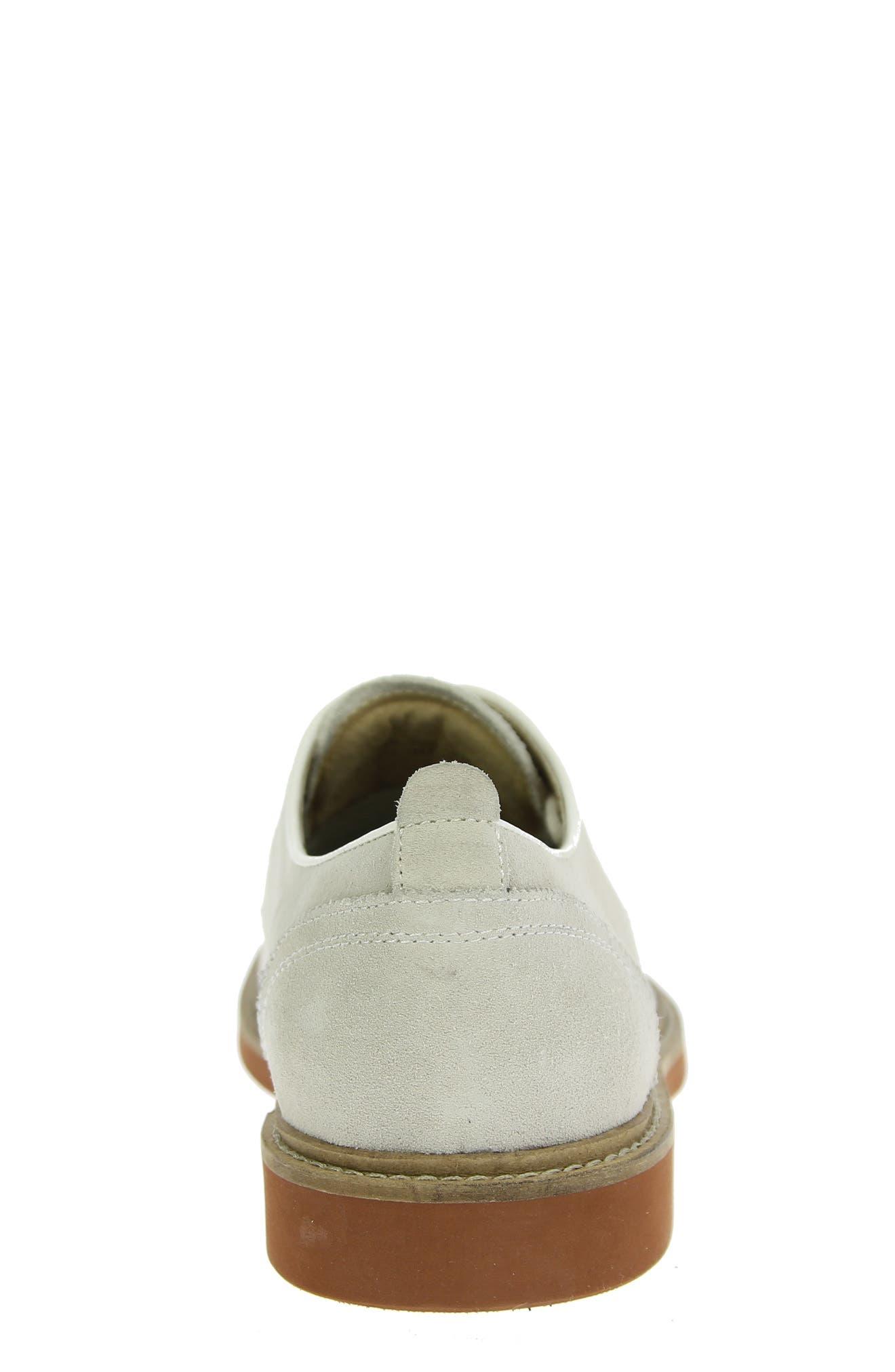 'Bucktown' Buck Shoe,                             Alternate thumbnail 2, color,                             WHITE SUEDE