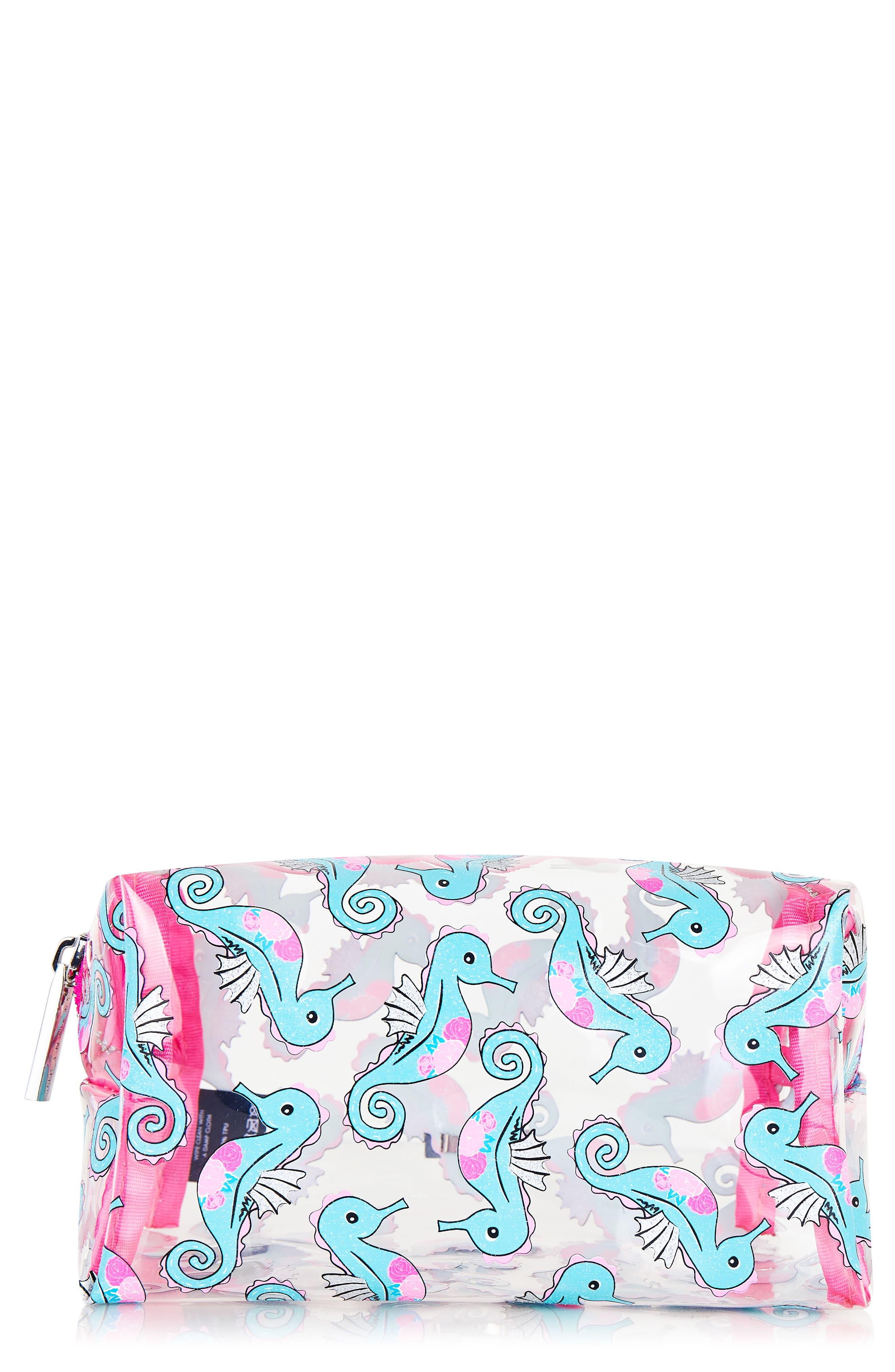Skinny Dip Reef Makeup Bag,                             Main thumbnail 1, color,                             000