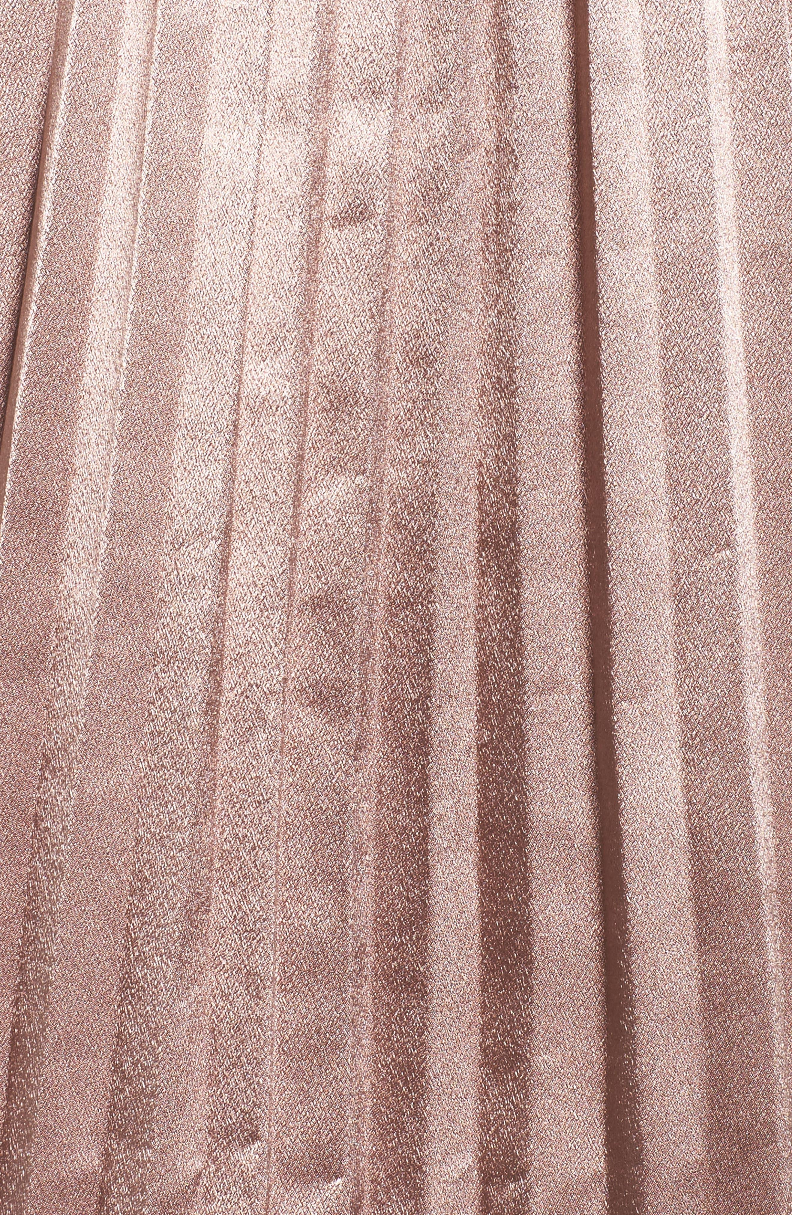 Pleat Metallic Skirt,                             Alternate thumbnail 5, color,                             650