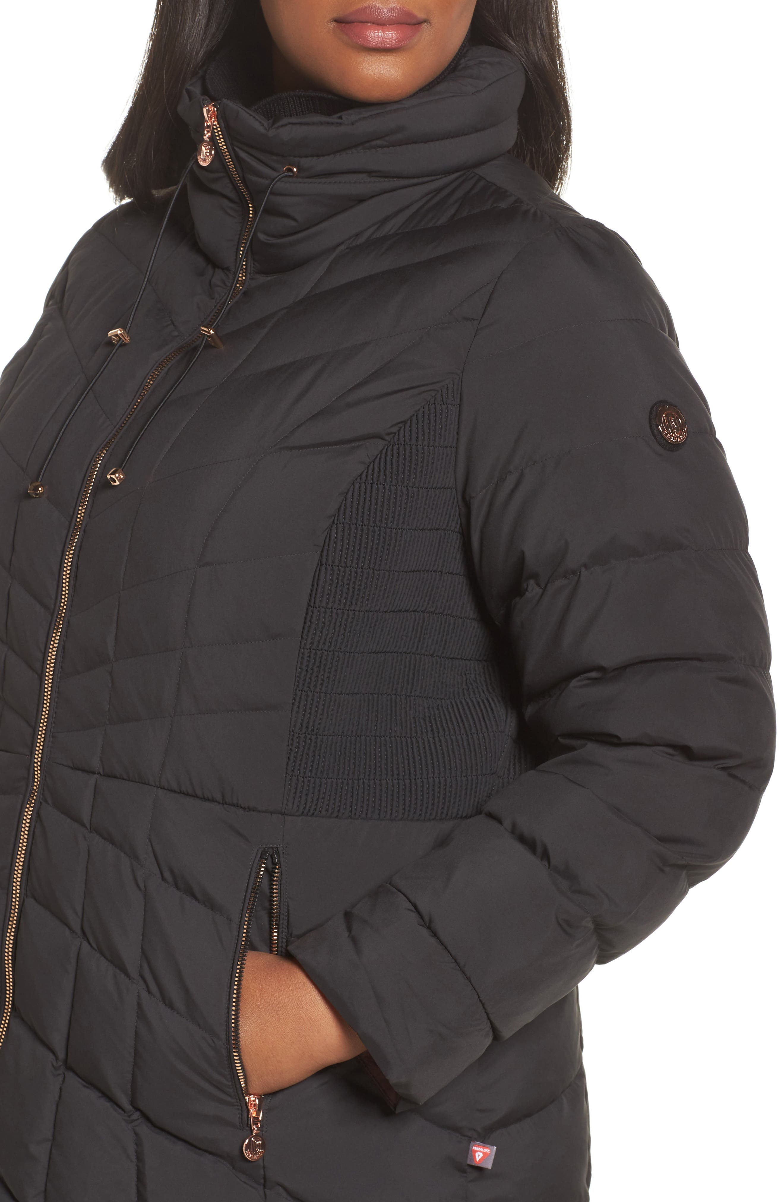 Packable Water Resistant Down & PrimaLoft<sup>®</sup> Coat,                             Alternate thumbnail 7, color,