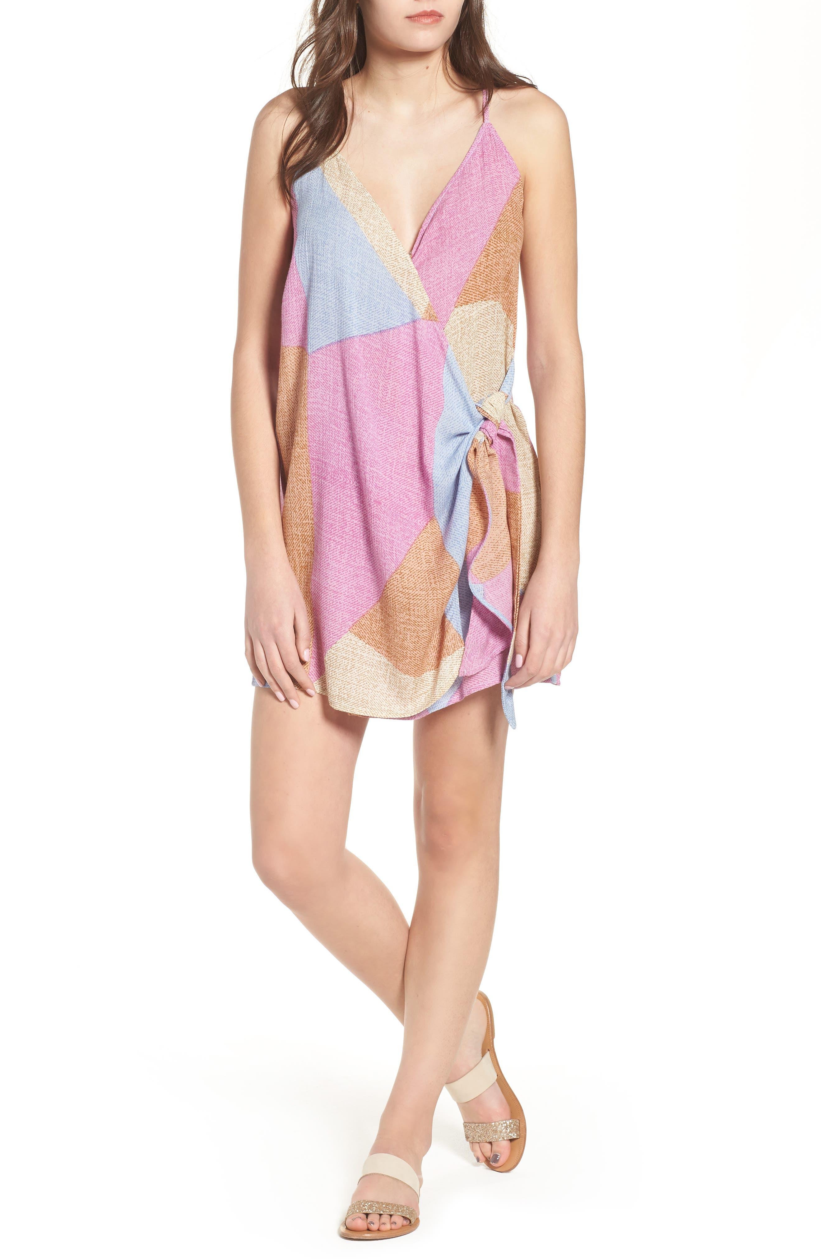 Marlo Wrap Dress,                             Main thumbnail 1, color,                             650