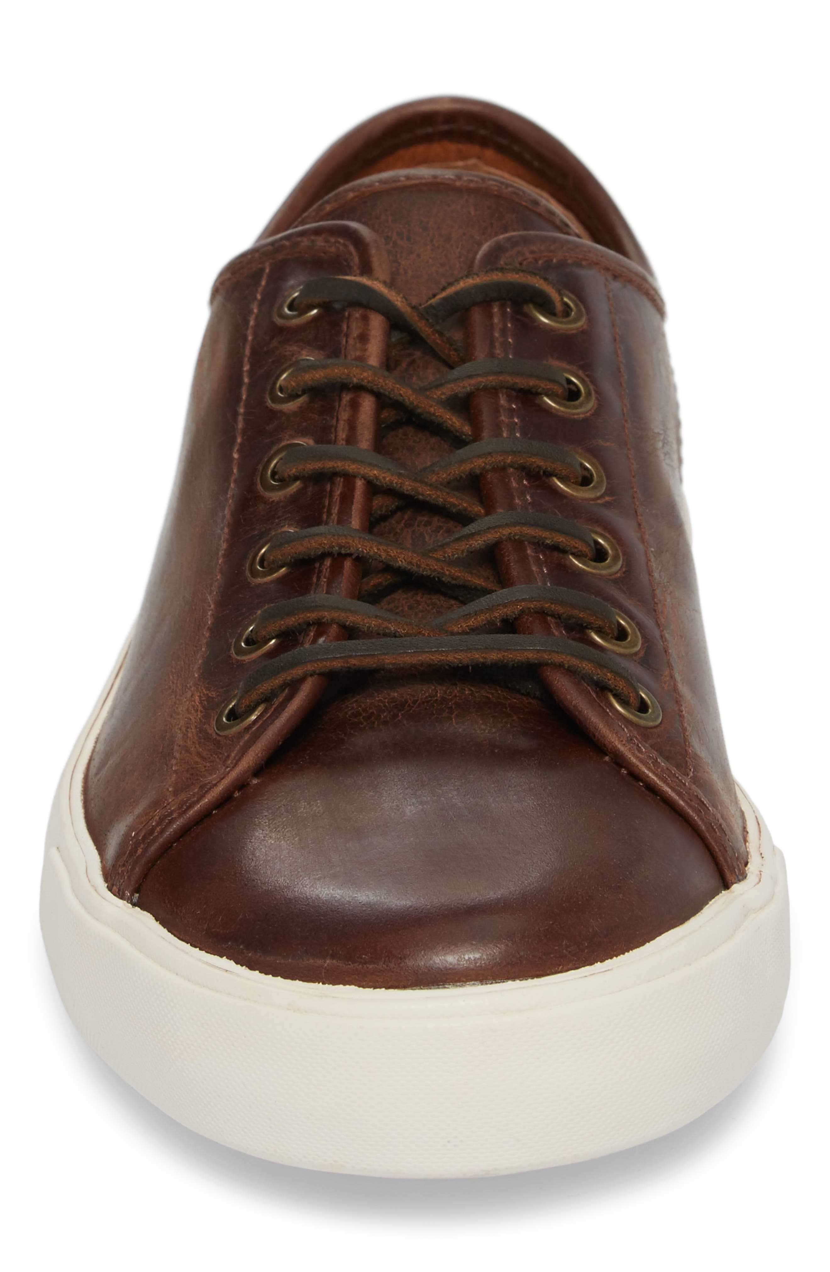Brett Sneaker,                             Alternate thumbnail 4, color,                             REDWOOD LEATHER