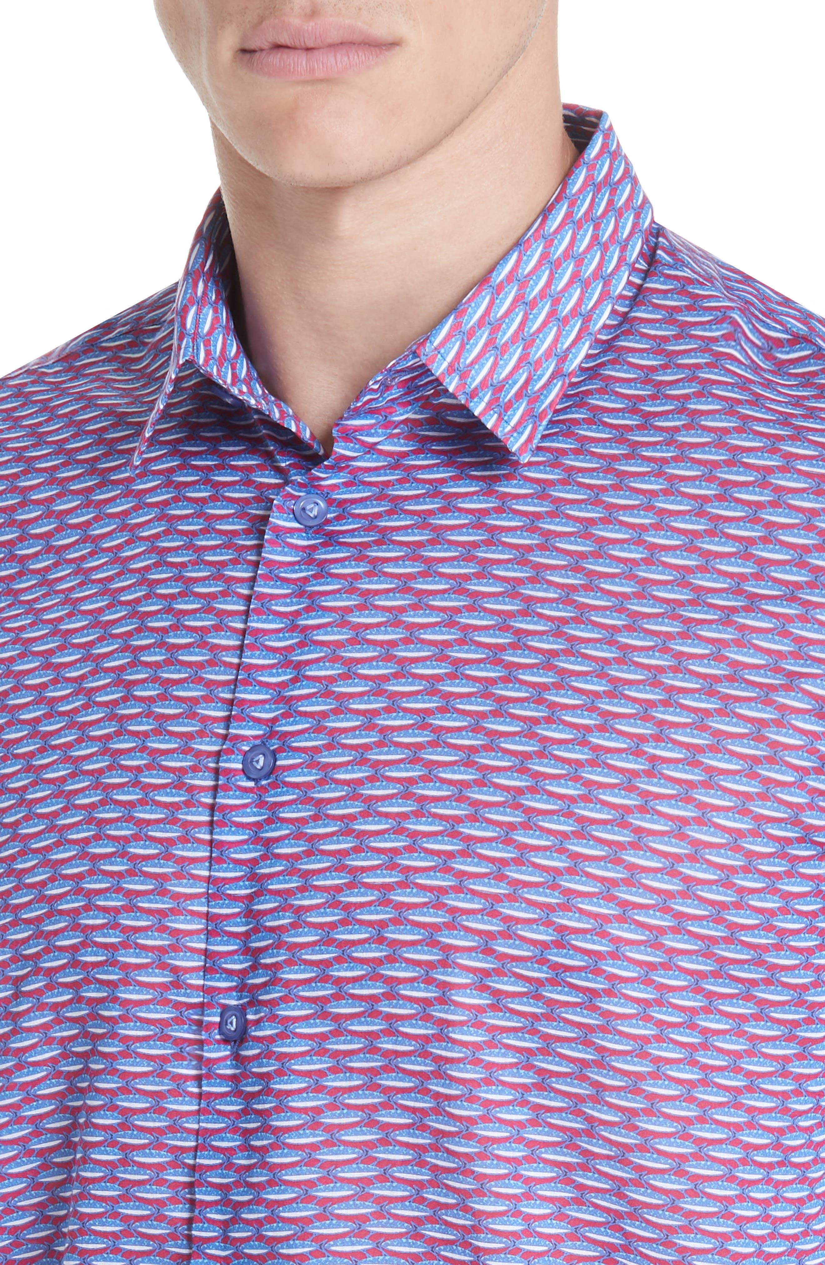 Marbella Voile Print Sport Shirt,                             Alternate thumbnail 2, color,                             MULTI