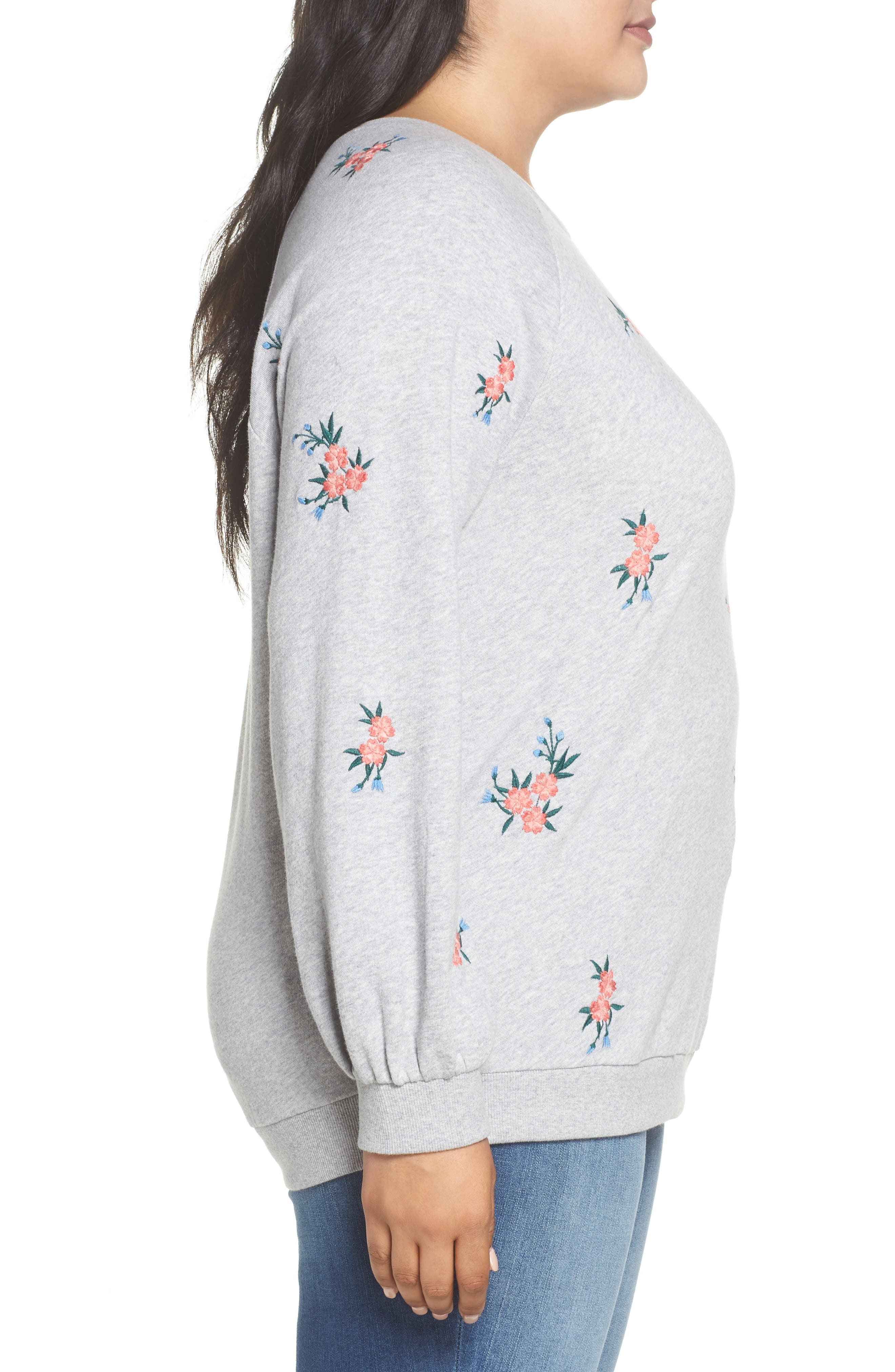 Embroidered Cotton Sweatshirt,                             Alternate thumbnail 3, color,                             030