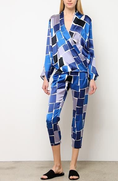 Jazmin Print Stretch Silk Shirt, video thumbnail