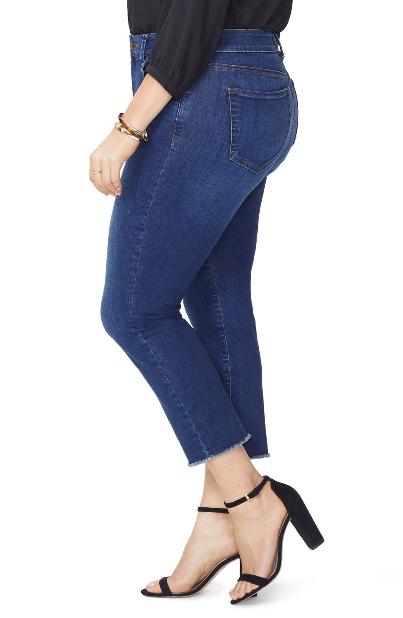 Sheri Fray Hem Stretch Slim Ankle Jeans,                             Alternate thumbnail 3, color,                             428