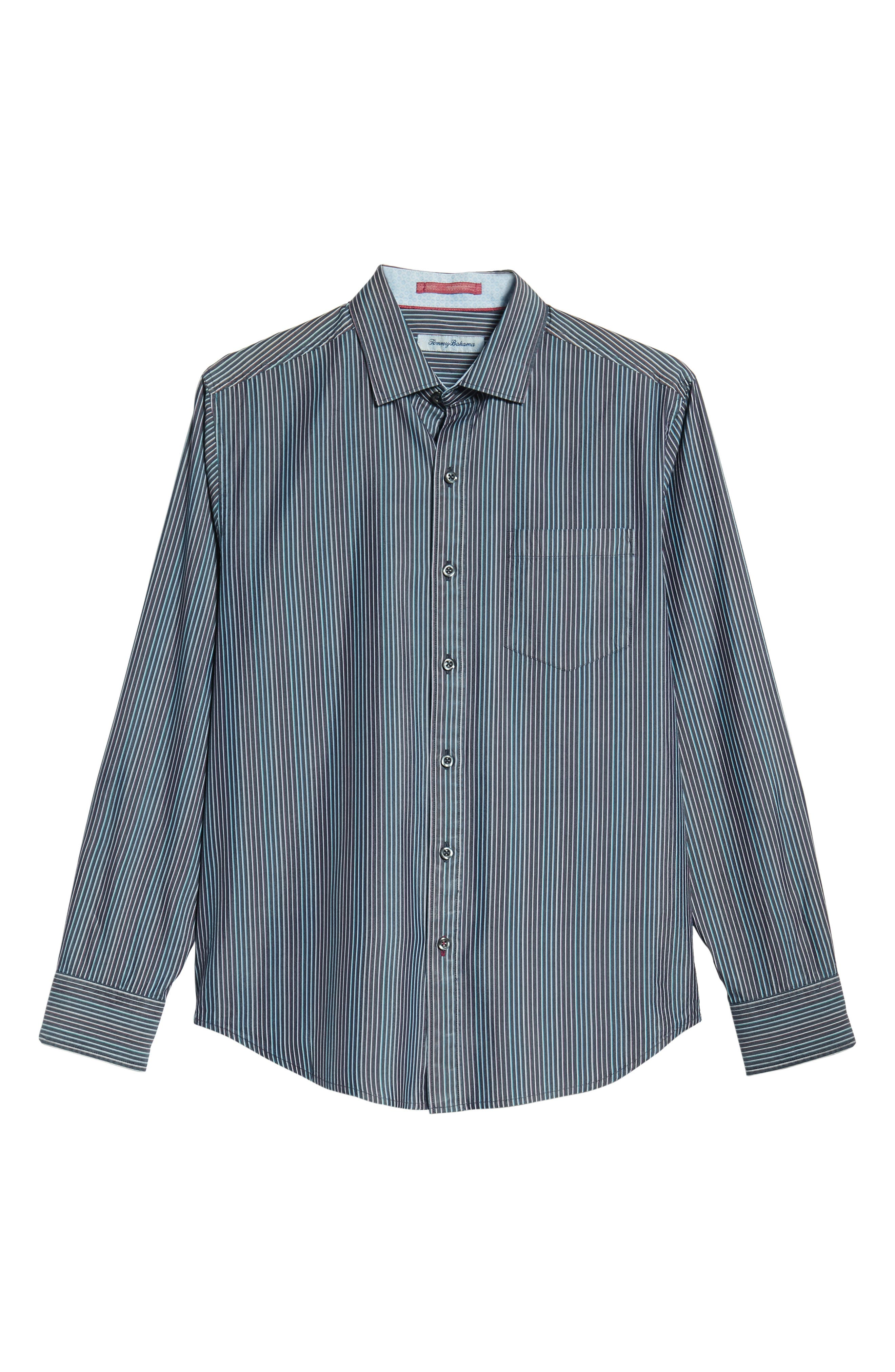 TOMMY BAHAMA,                             Paradiso Prism Stripe Sport Shirt,                             Alternate thumbnail 6, color,                             400