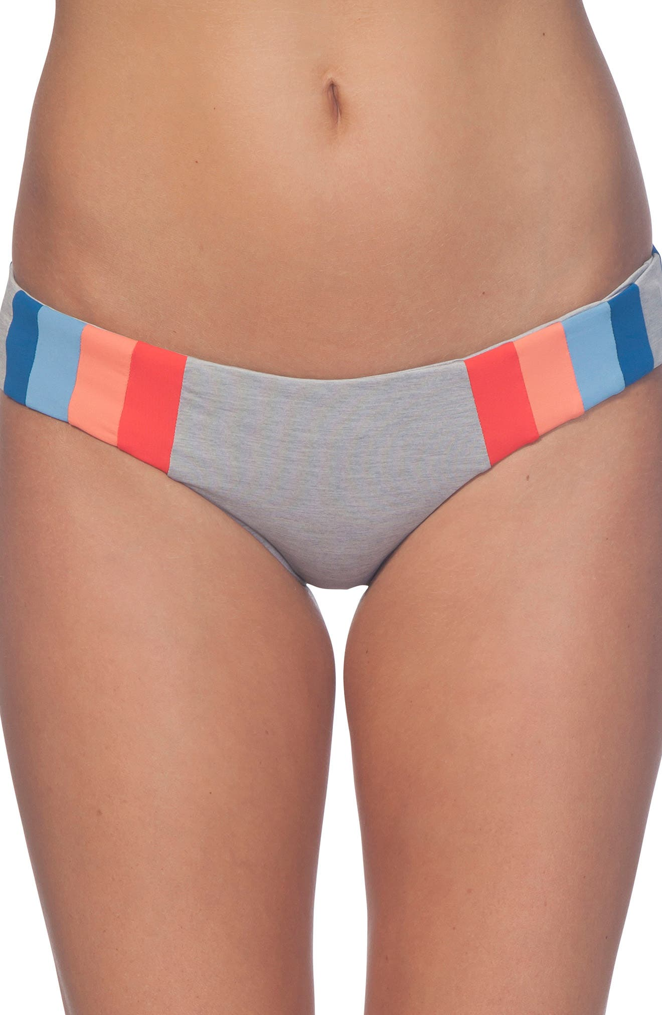 New Wave Hipster Bikini Bottoms,                             Main thumbnail 1, color,                             HEATHER GREY