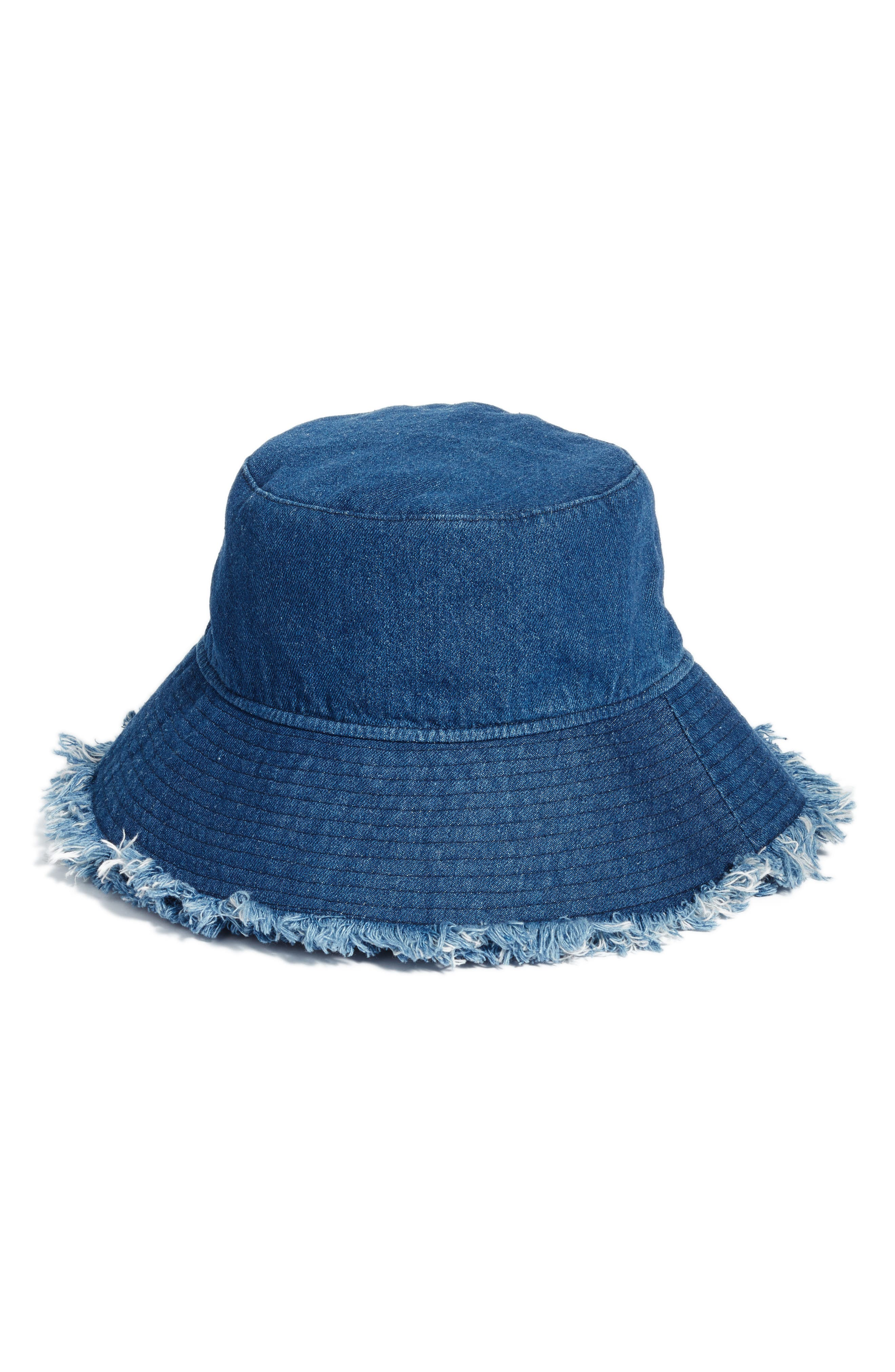 Denim Bucket Hat,                         Main,                         color, 410