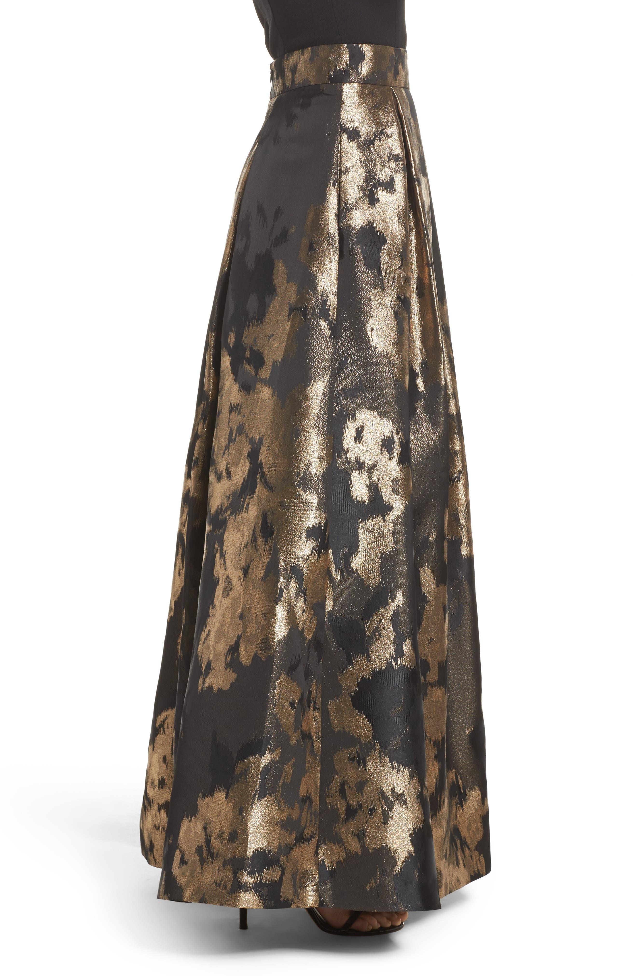 Metallic Jacquard Ball Skirt,                             Alternate thumbnail 3, color,