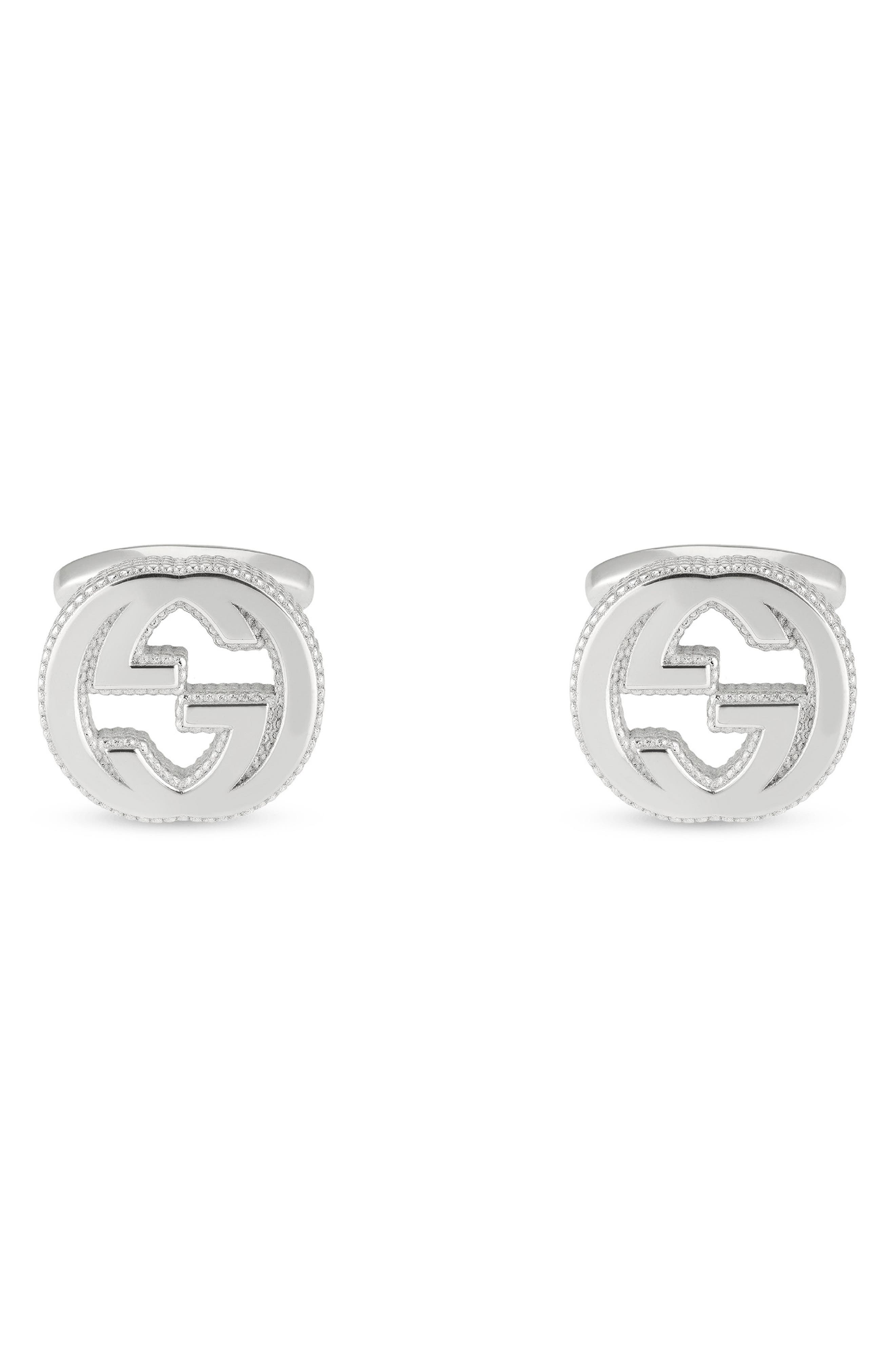 Double-G Cuff Links,                             Main thumbnail 1, color,                             040