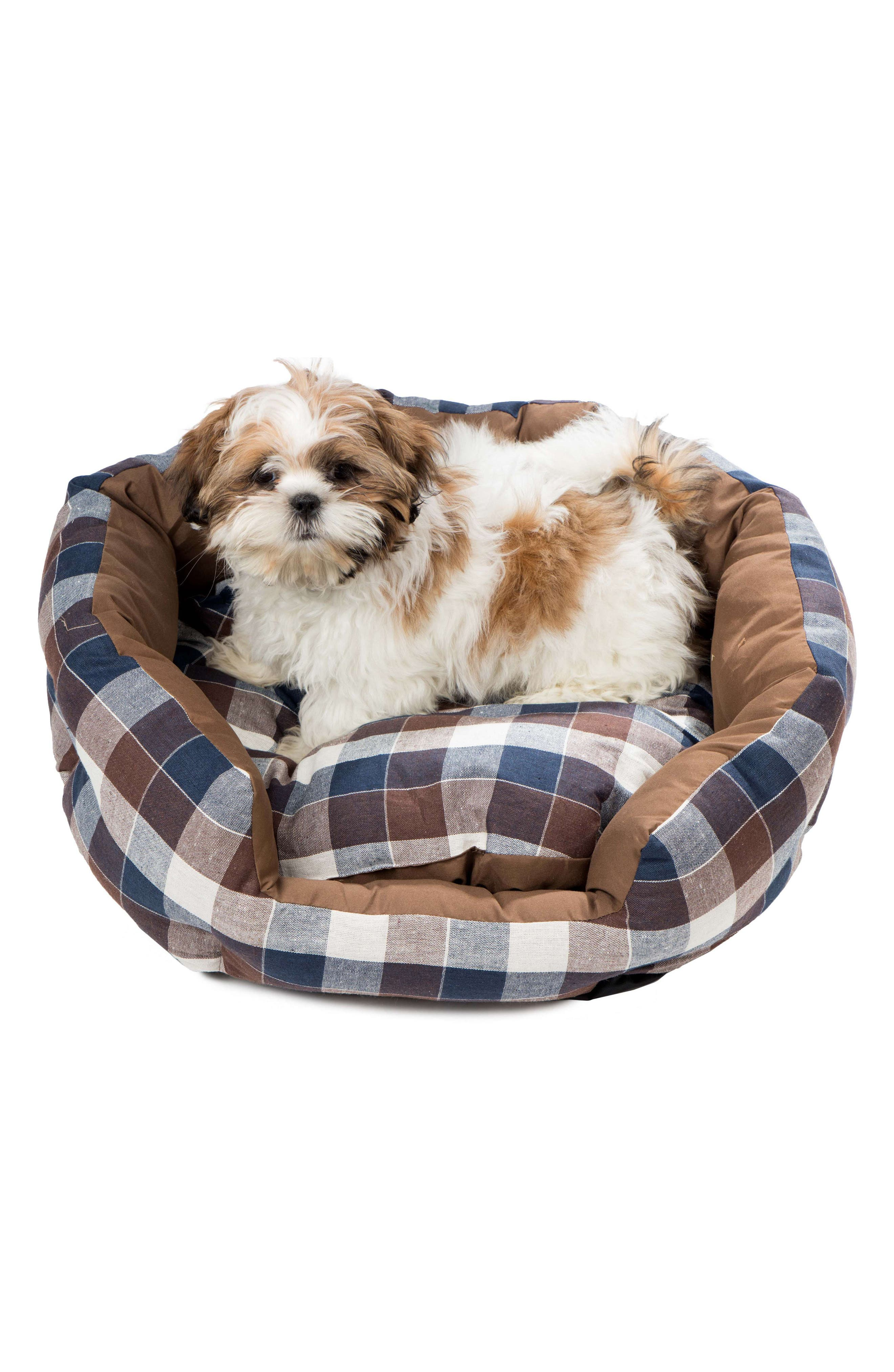 Hasley Round Pet Bed,                             Alternate thumbnail 2, color,                             CHOCOLATE