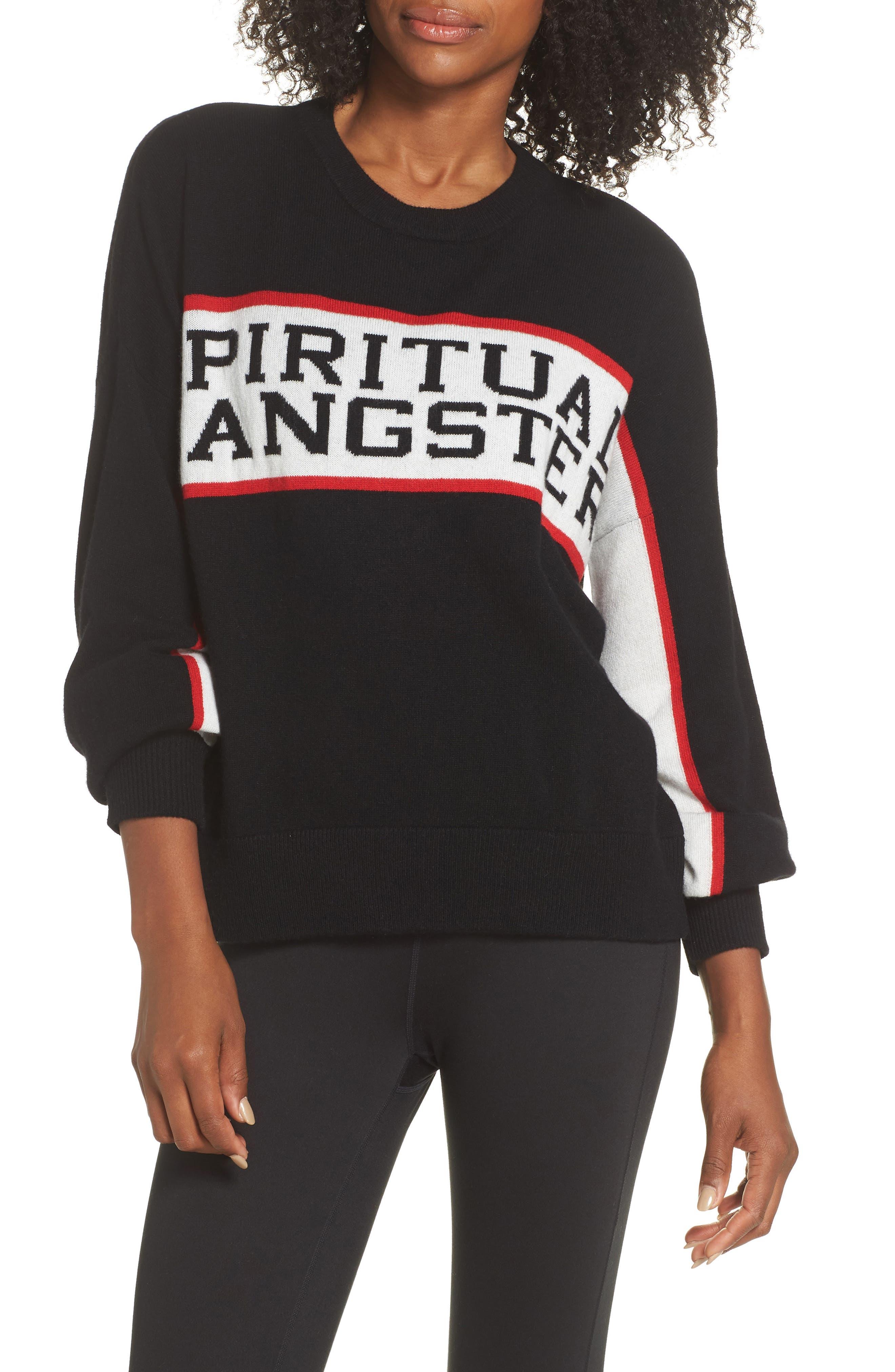 Intarsia Logo Wool & Cashmere Sweater,                         Main,                         color, 001