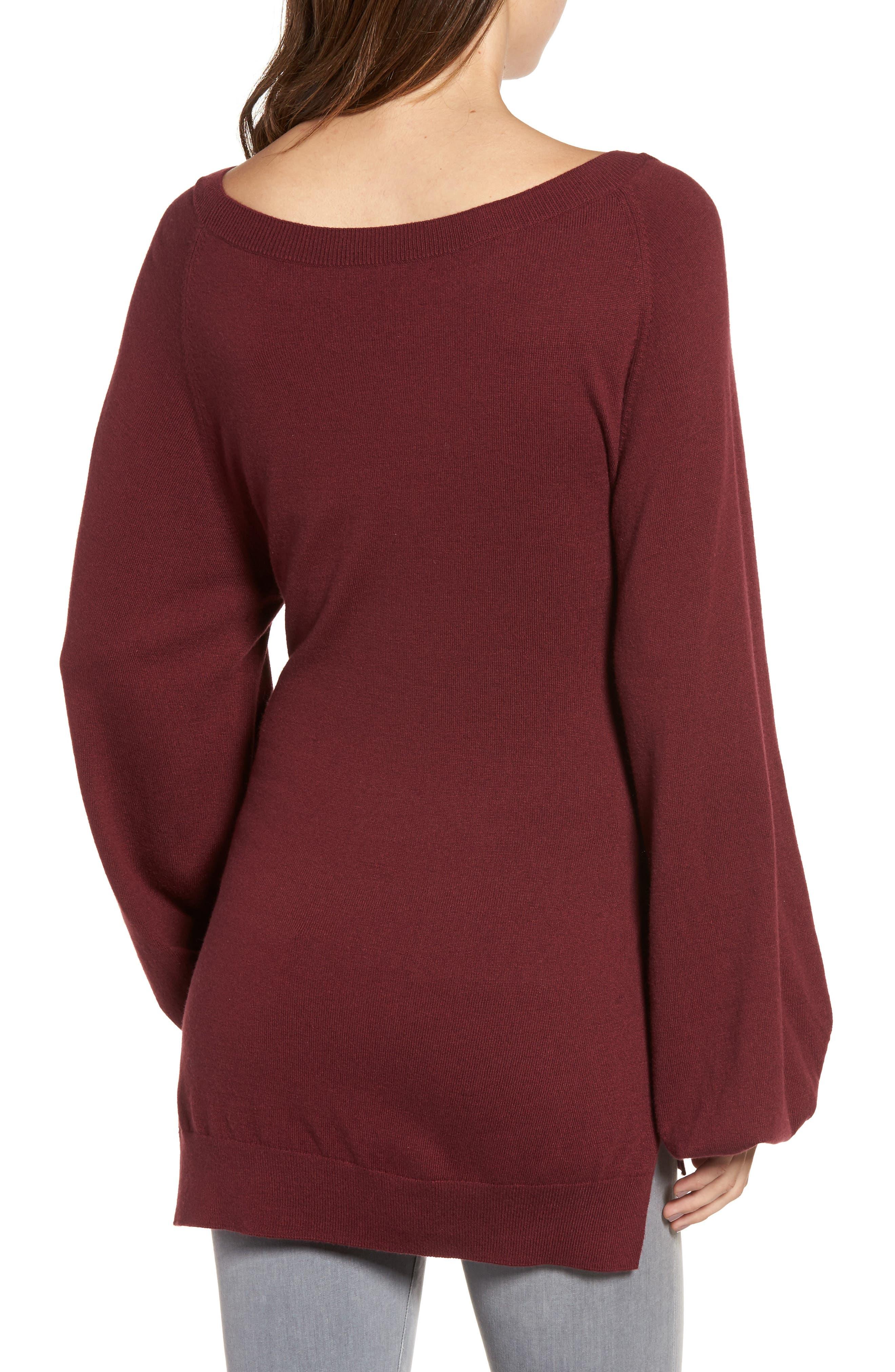 Corset Tunic Sweater,                             Alternate thumbnail 4, color,