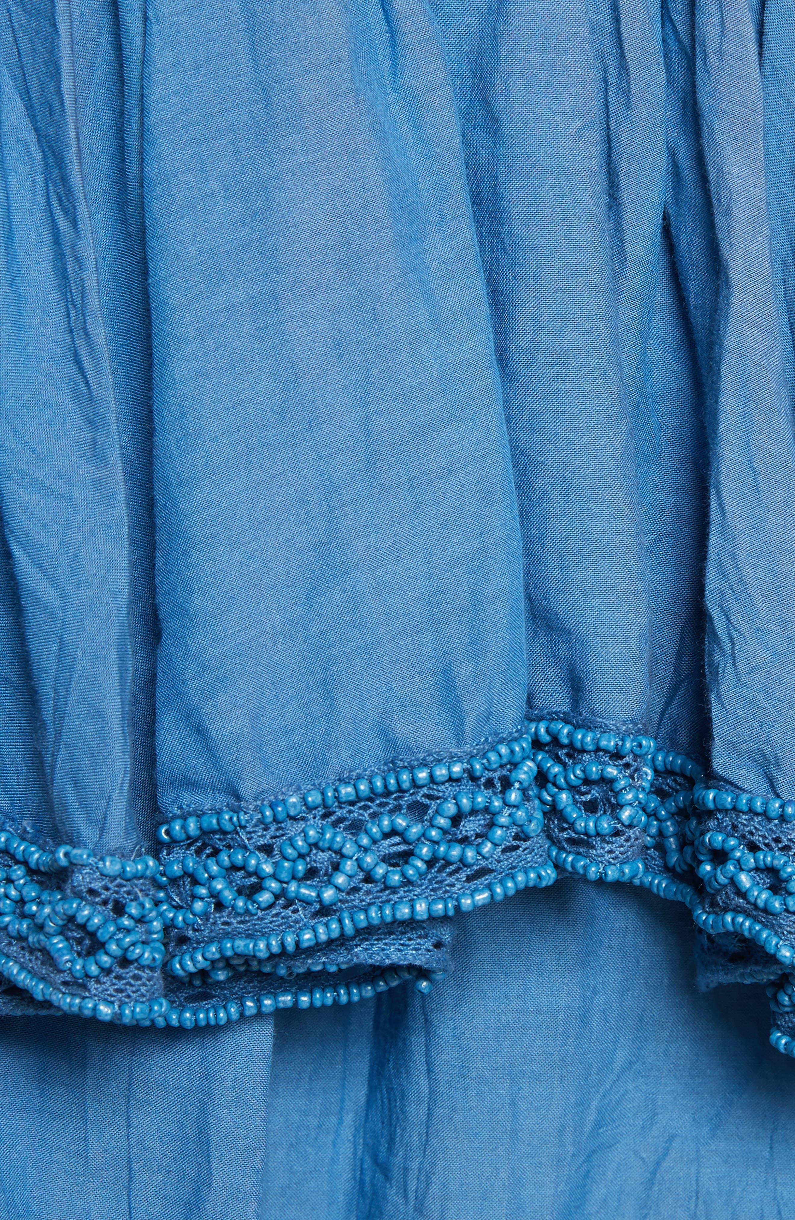 Adaline Ruffle Cotton Blouse,                             Alternate thumbnail 5, color,                             400
