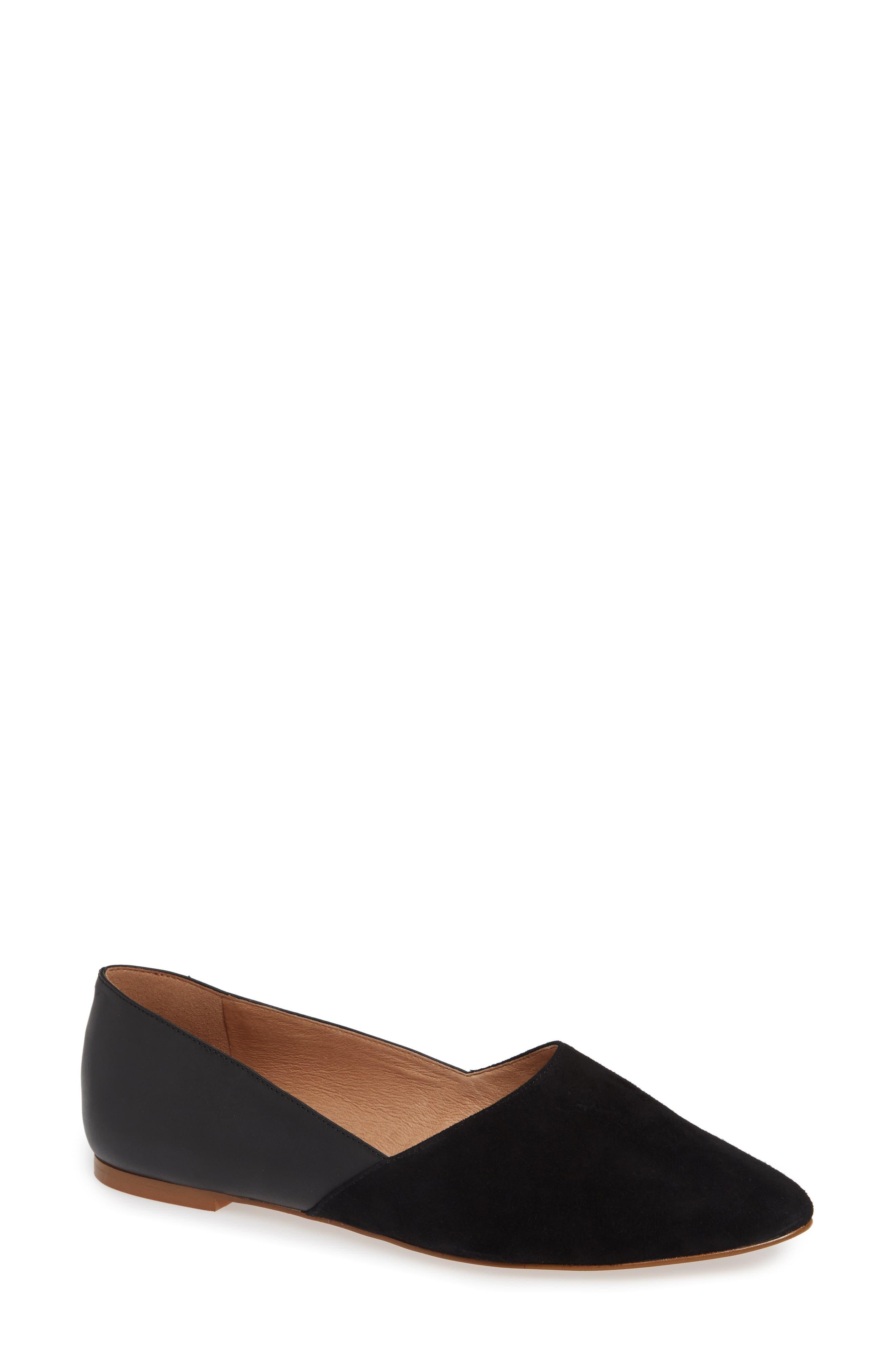 Lizbeth Pointy Toe Flat, Main, color, 001