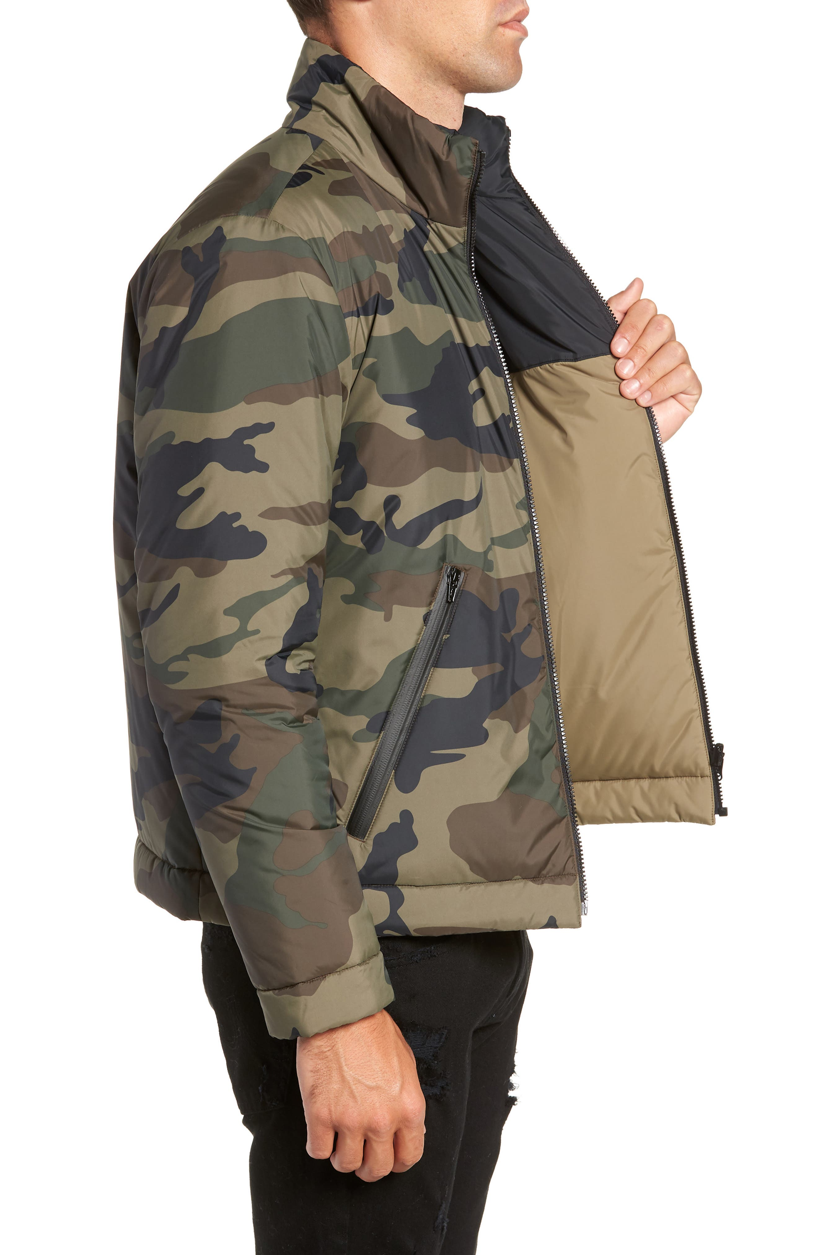 Buckhorn Slim Reversible Jacket,                             Alternate thumbnail 4, color,                             SPRIG