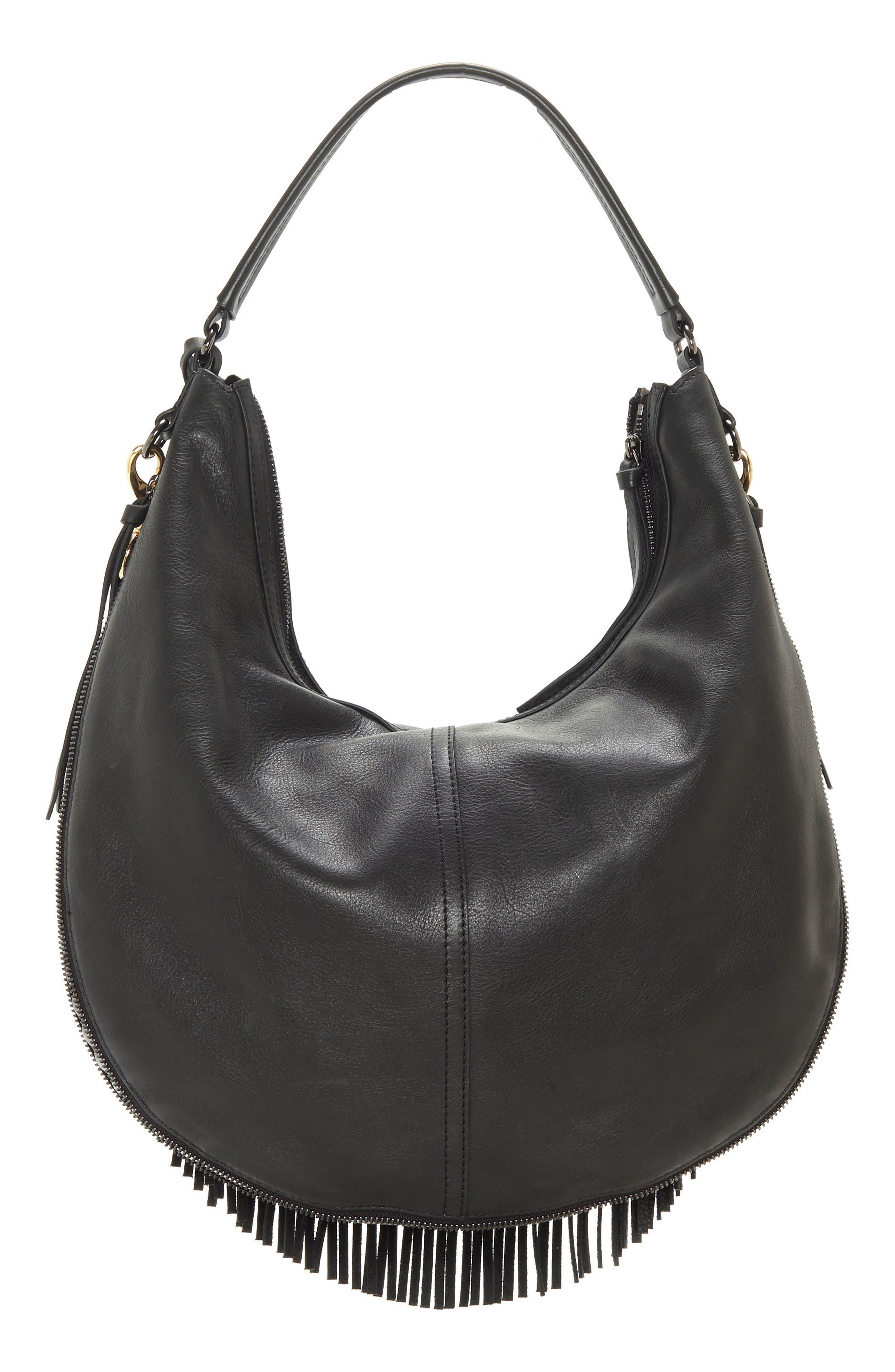 Hil Leather Hobo Bag,                             Alternate thumbnail 2, color,                             002