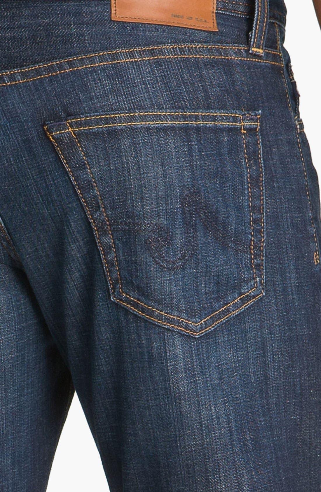 Protégé Straight Leg Jeans,                             Alternate thumbnail 7, color,                             HUNTS WASH