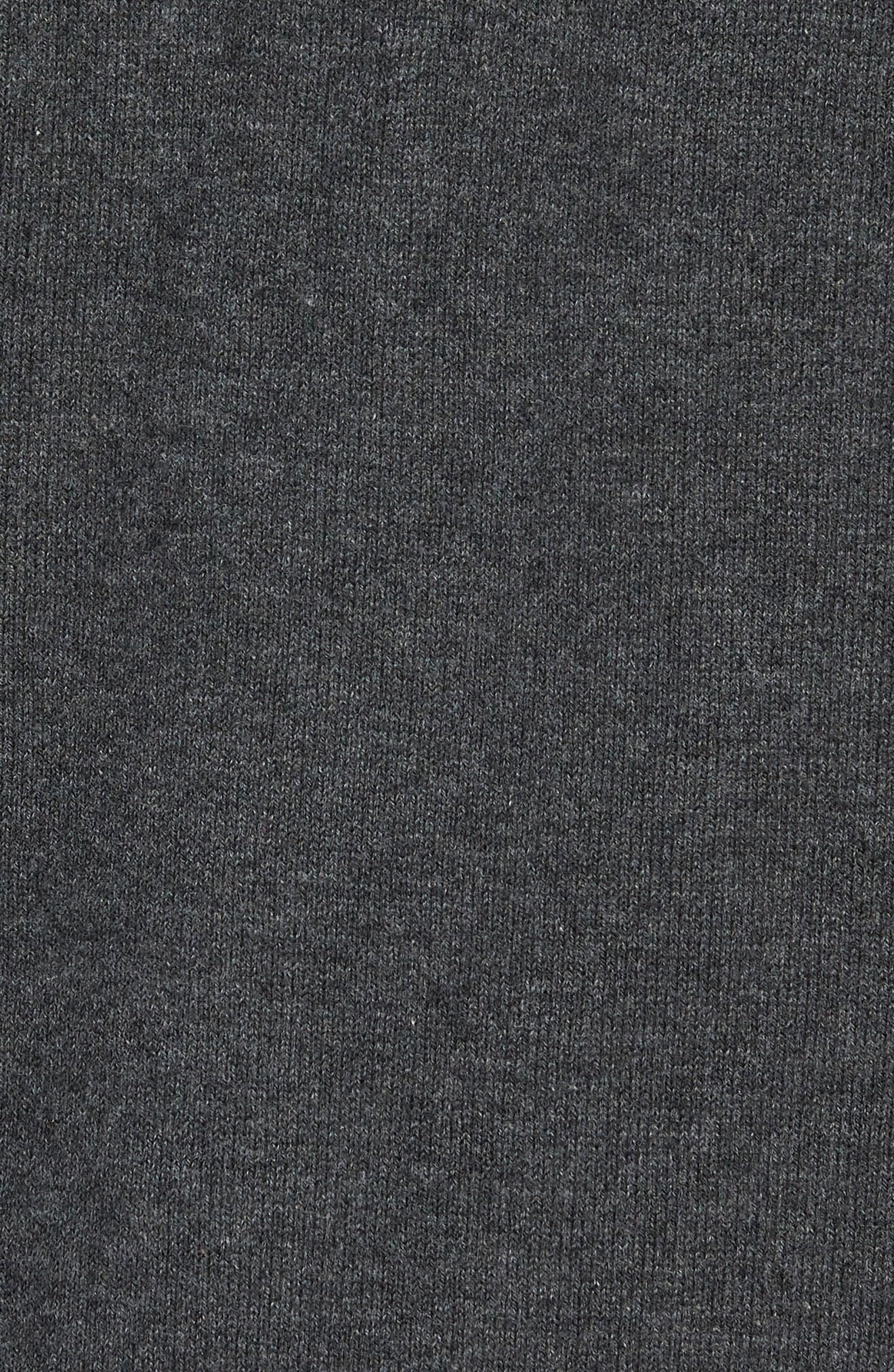 Tampa Bay Buccaneers - Lakemont Regular Fit Quarter Zip Sweater,                             Alternate thumbnail 5, color,                             CHARCOAL HEATHER
