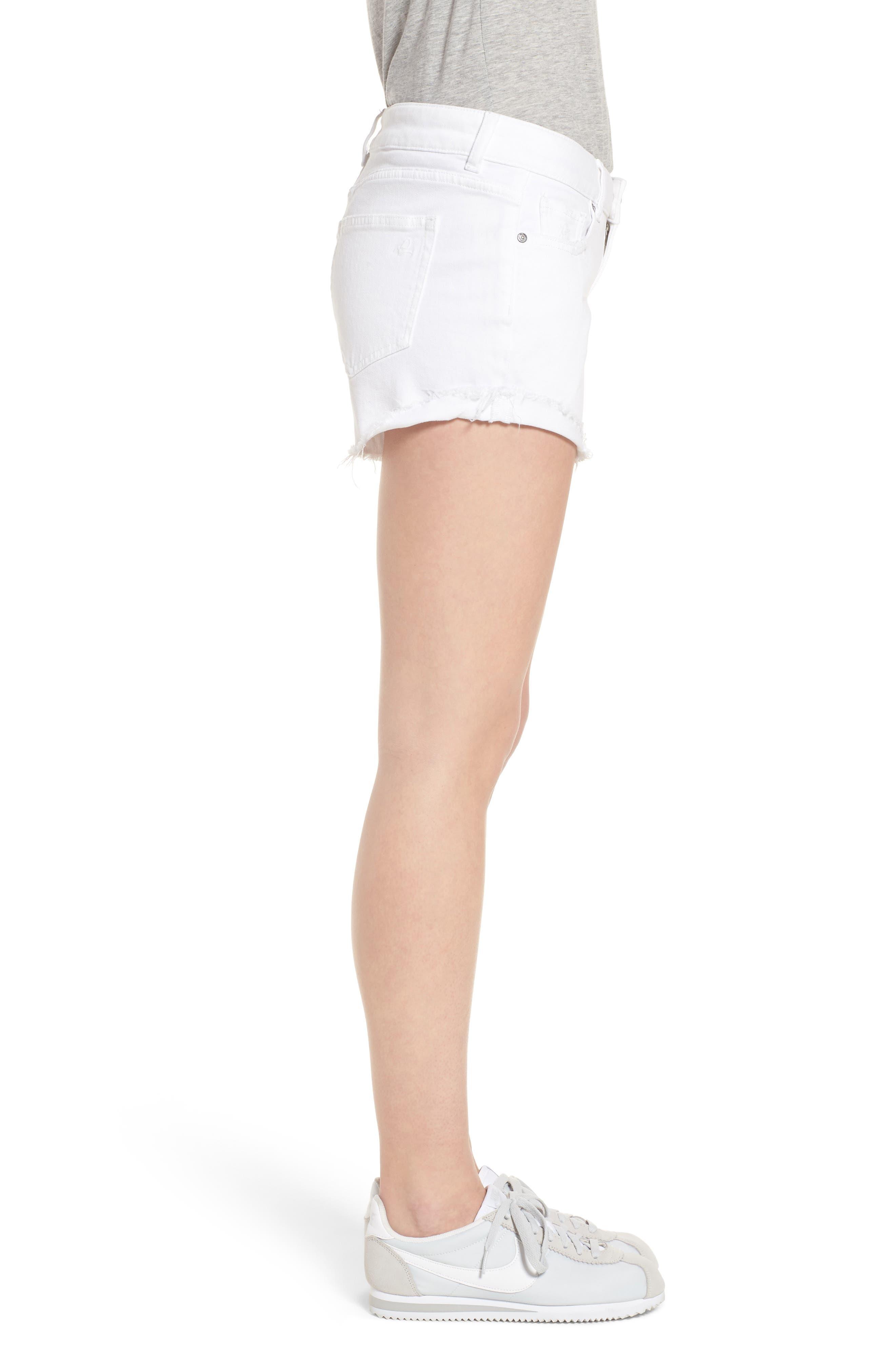 Karlie Cutoff Denim Boyfriend Shorts,                             Alternate thumbnail 3, color,                             100
