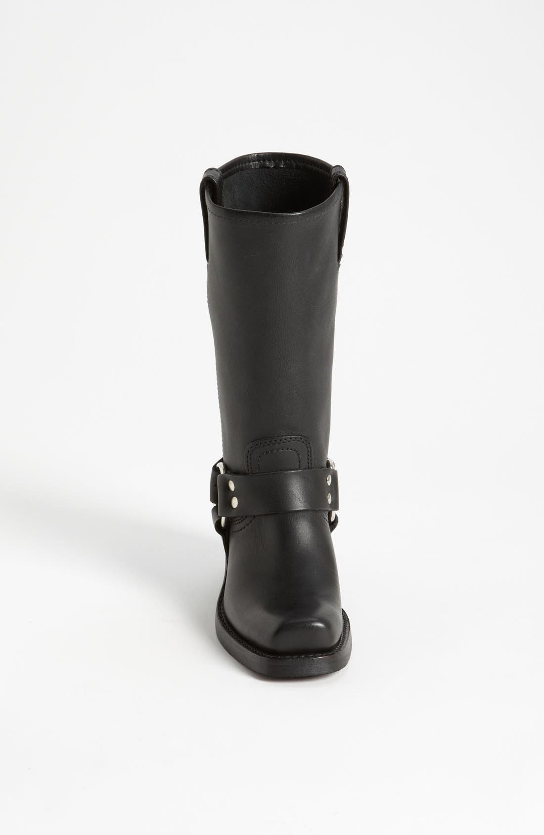'Harness 12R' Leather Boot,                             Alternate thumbnail 2, color,                             BLACK