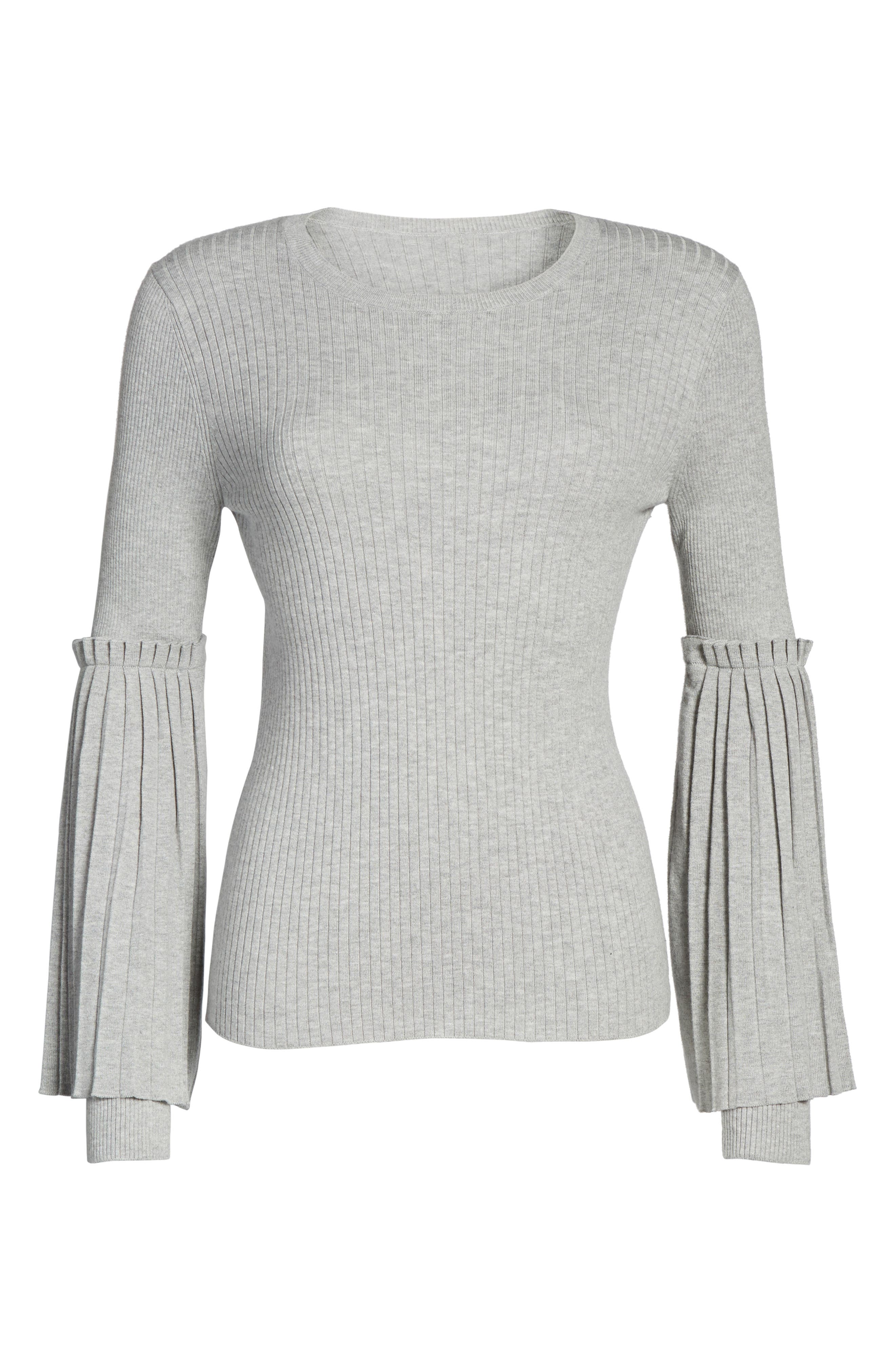 Bell Sleeve Sweater,                             Alternate thumbnail 6, color,                             050