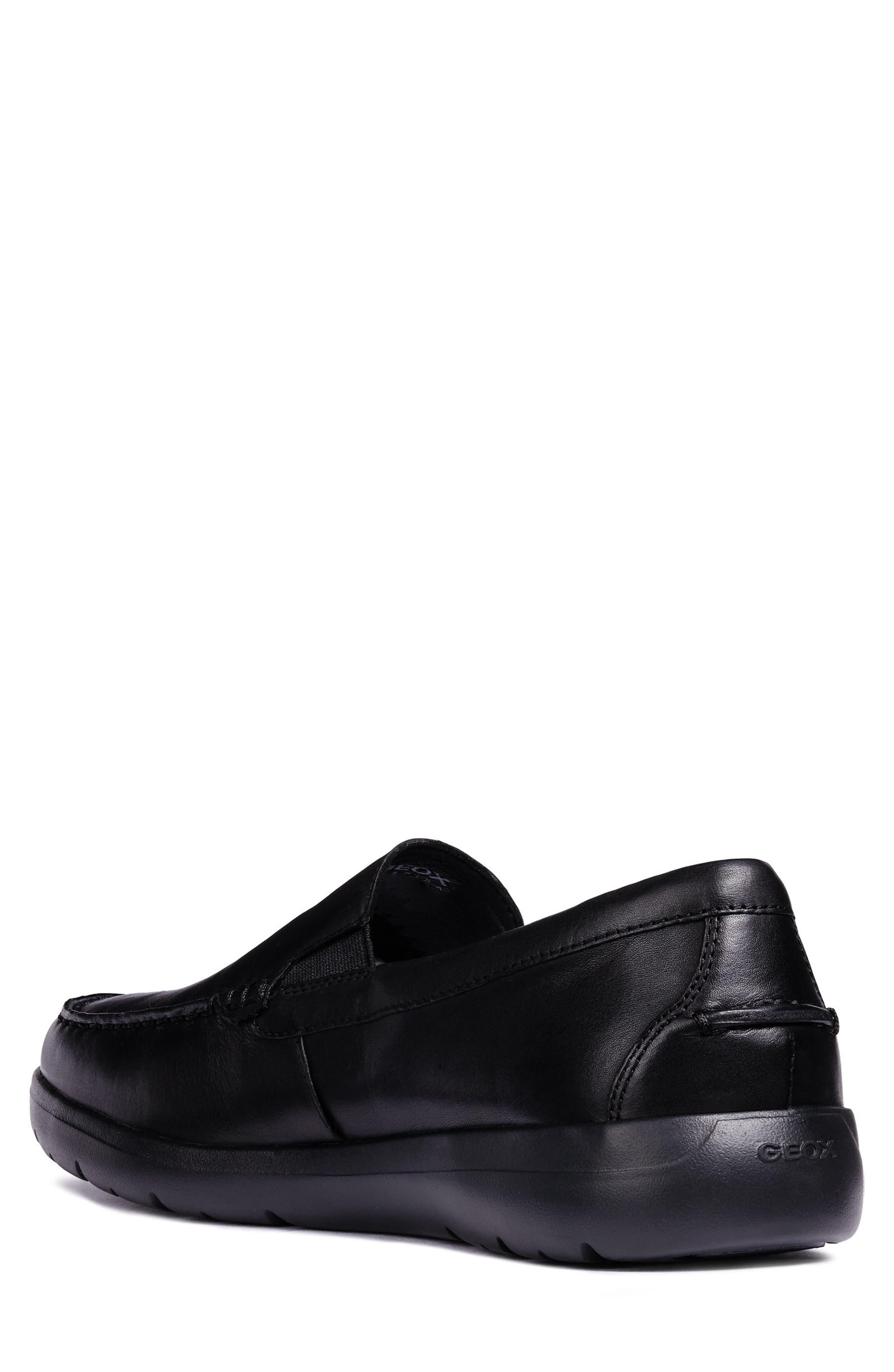Leitan 6 Moc Toe Slip-On,                             Alternate thumbnail 2, color,                             BLACK LEATHER