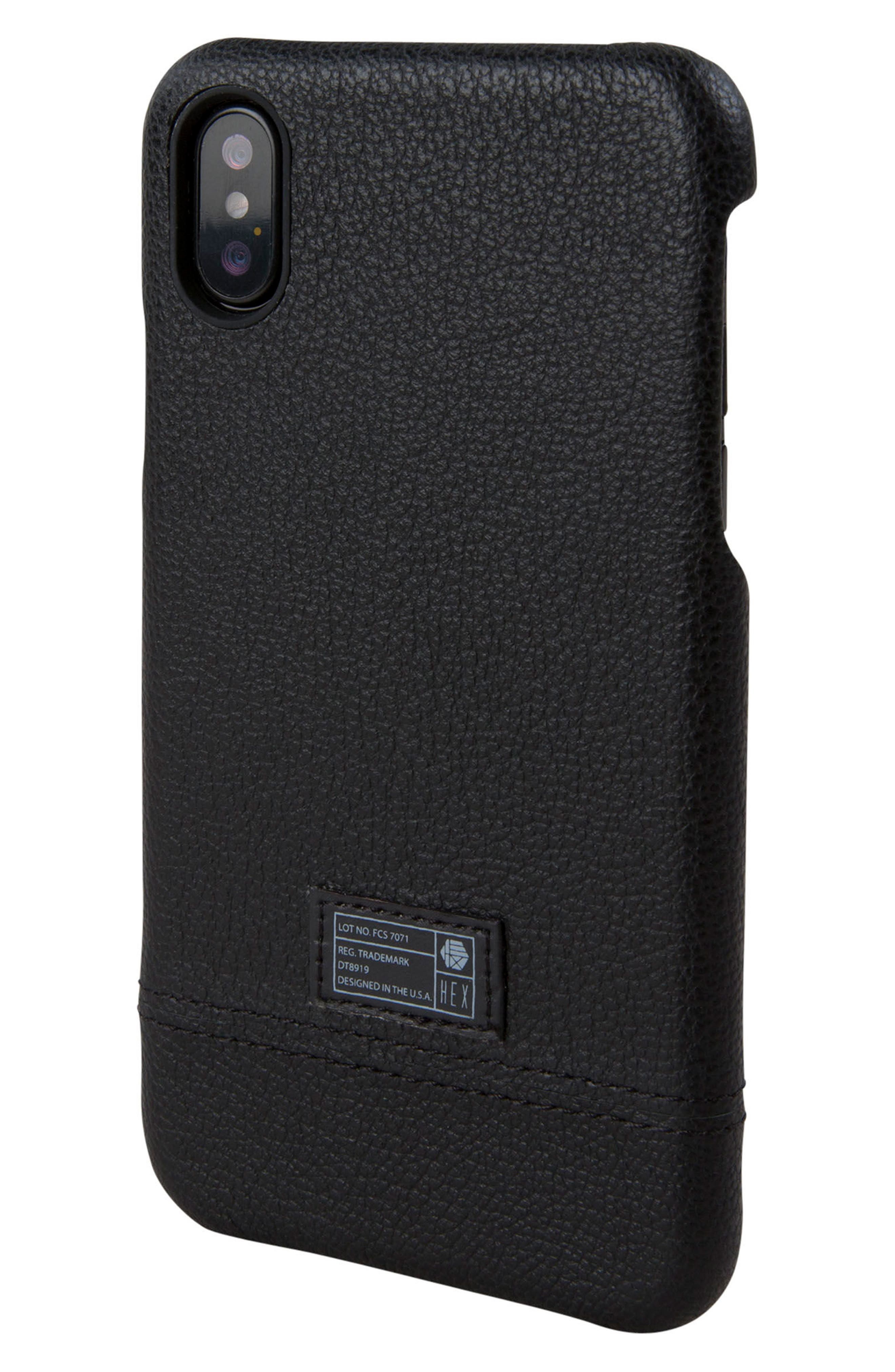 Focus Leather iPhone X Case,                             Main thumbnail 1, color,                             001