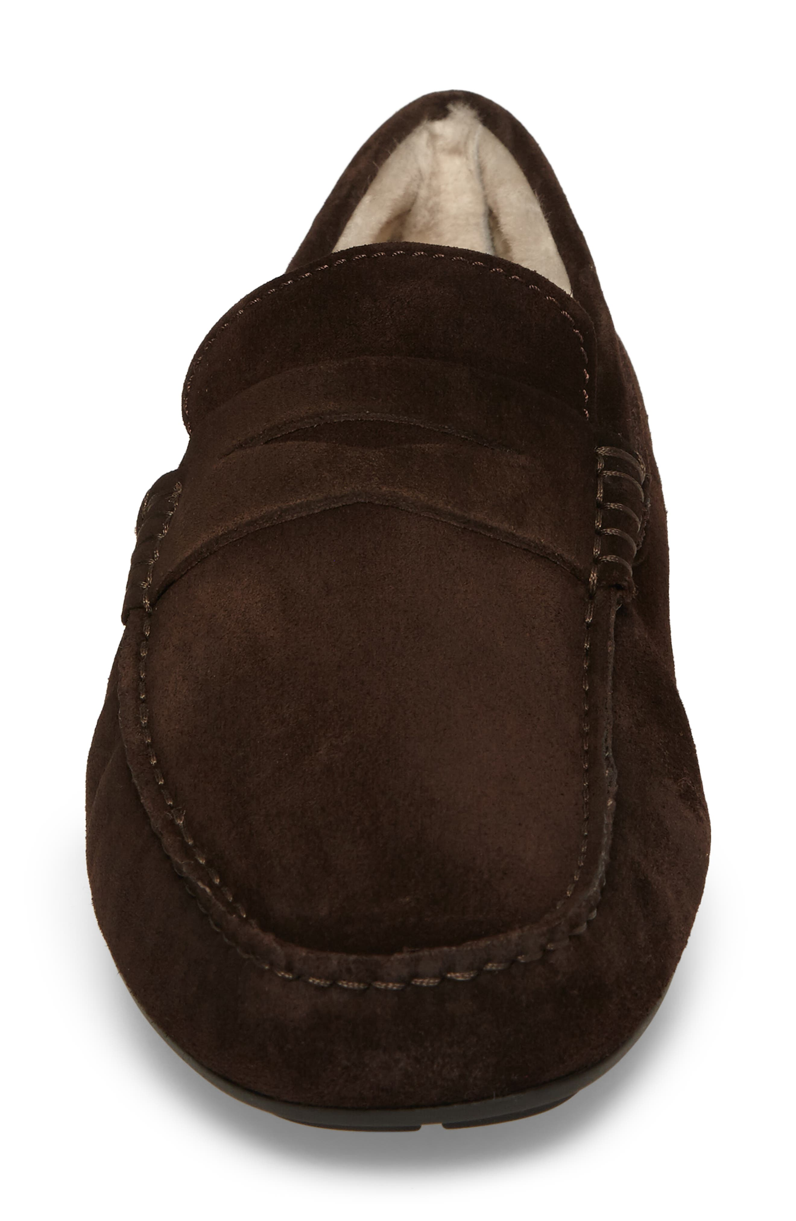 Norse Penny Loafer with Genuine Shearling,                             Alternate thumbnail 8, color,