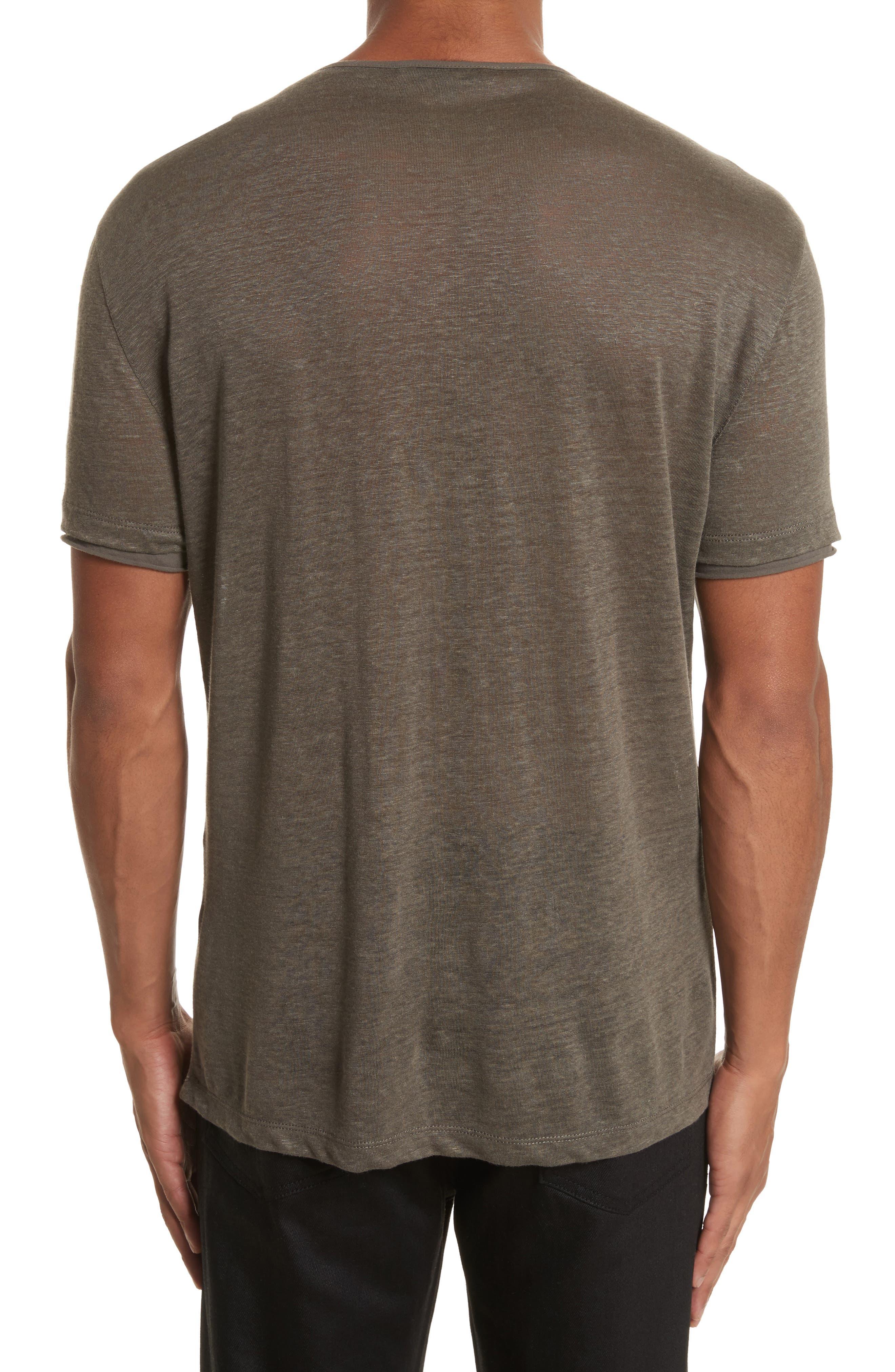 Linen Henley T-Shirt,                             Alternate thumbnail 2, color,                             336