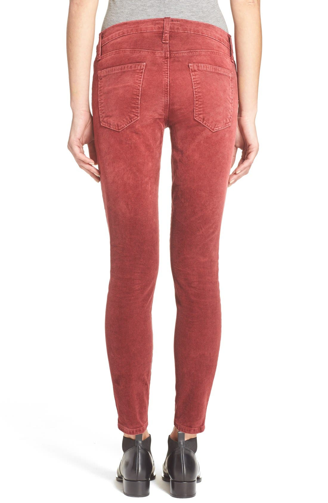CURRENT/ELLIOTT,                             'The Stiletto' Stretch Skinny Corduroy Pants,                             Alternate thumbnail 5, color,                             601