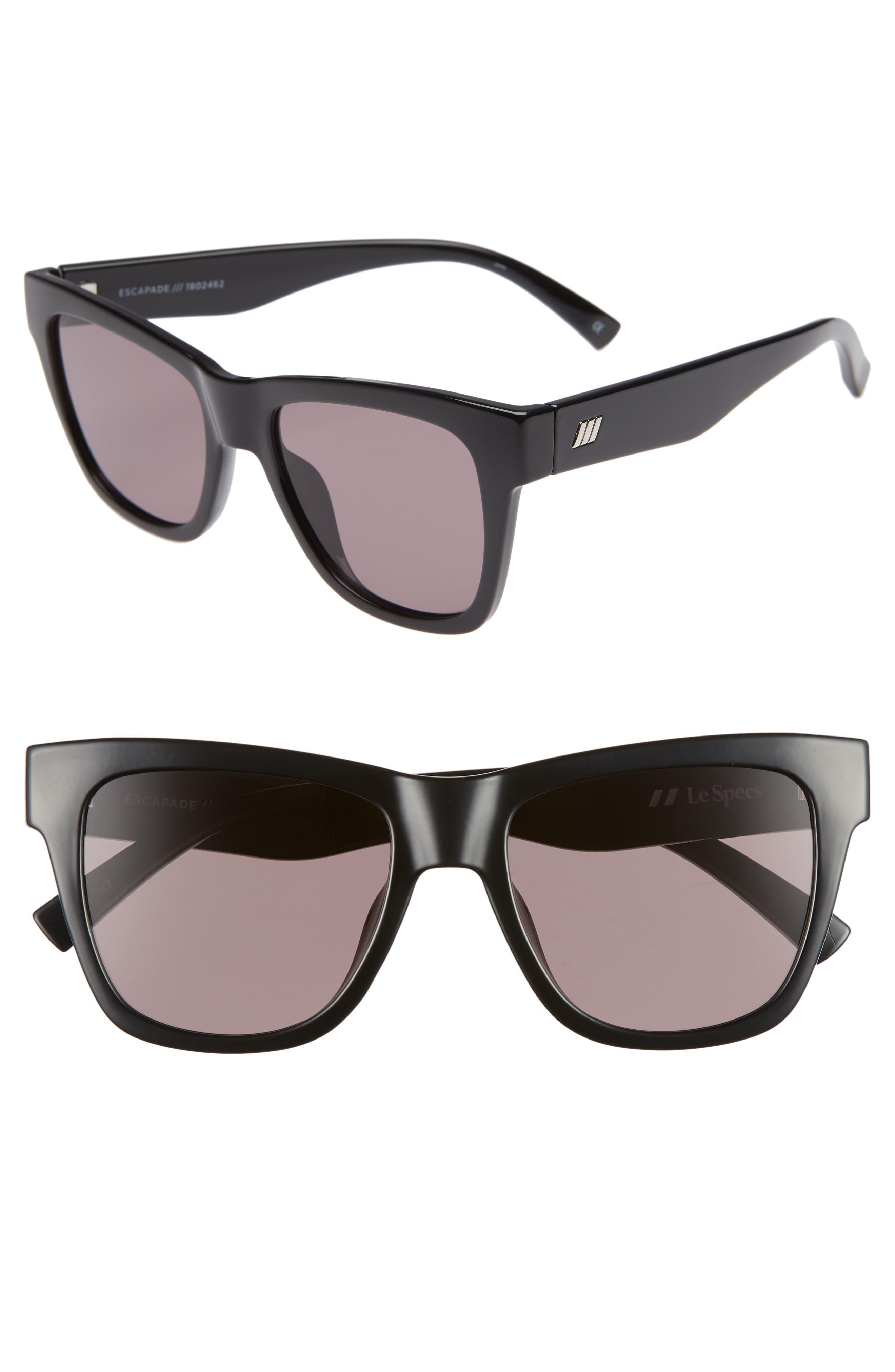 Escapade 54mm Sunglasses,                         Main,                         color, BLACK