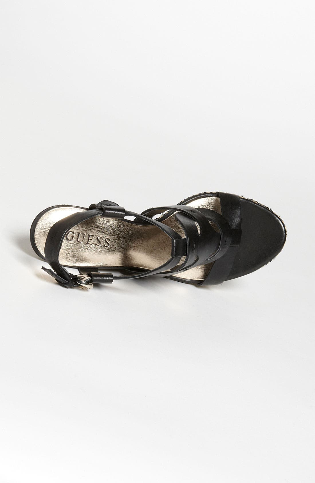 GUESS,                             'Dailona' Sandal,                             Alternate thumbnail 3, color,                             001