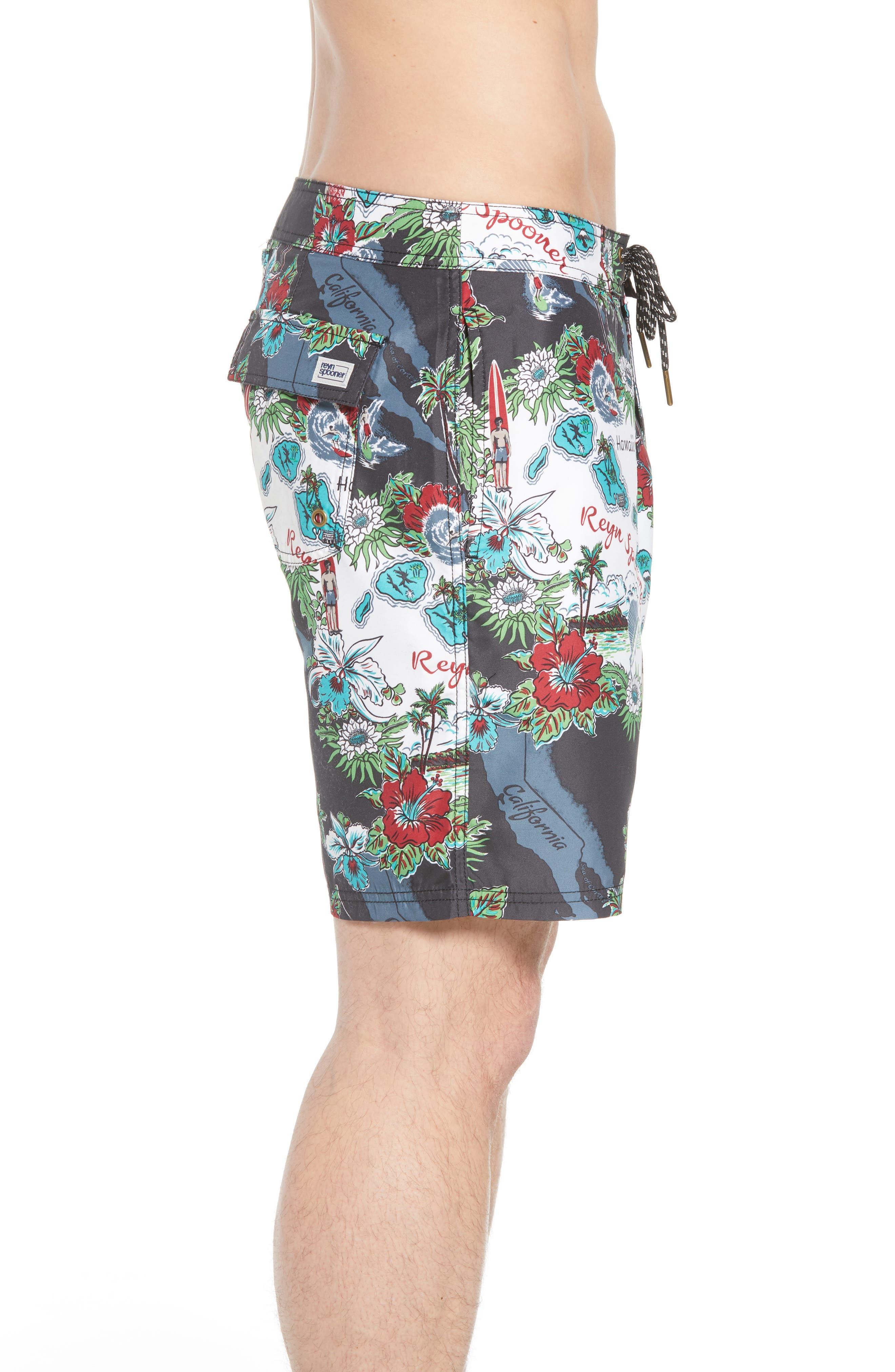 Status Oceanic Regular Fit Board Shorts,                             Alternate thumbnail 5, color,