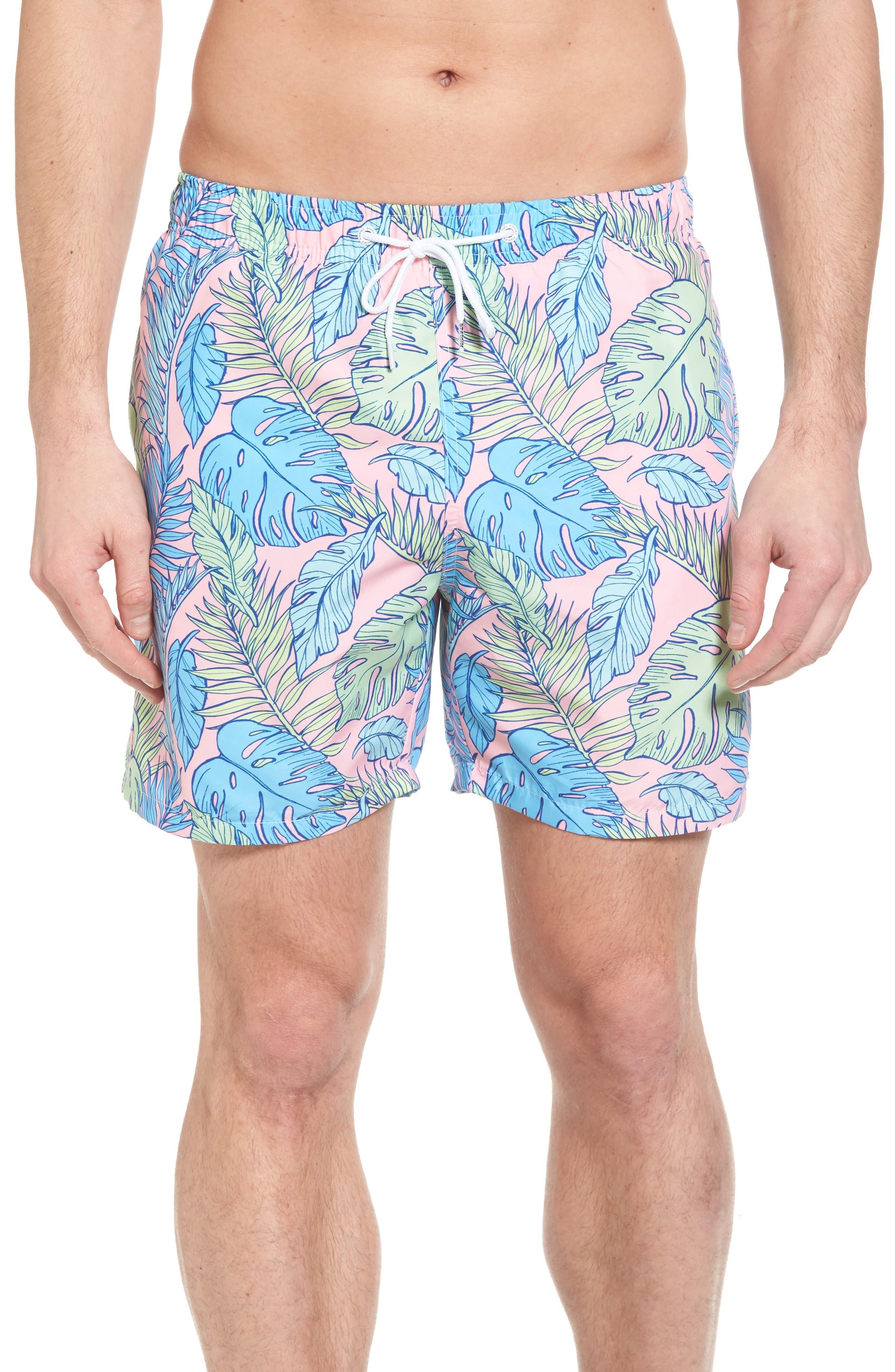 Palmtopia Swim Shorts,                             Main thumbnail 1, color,                             MULTI