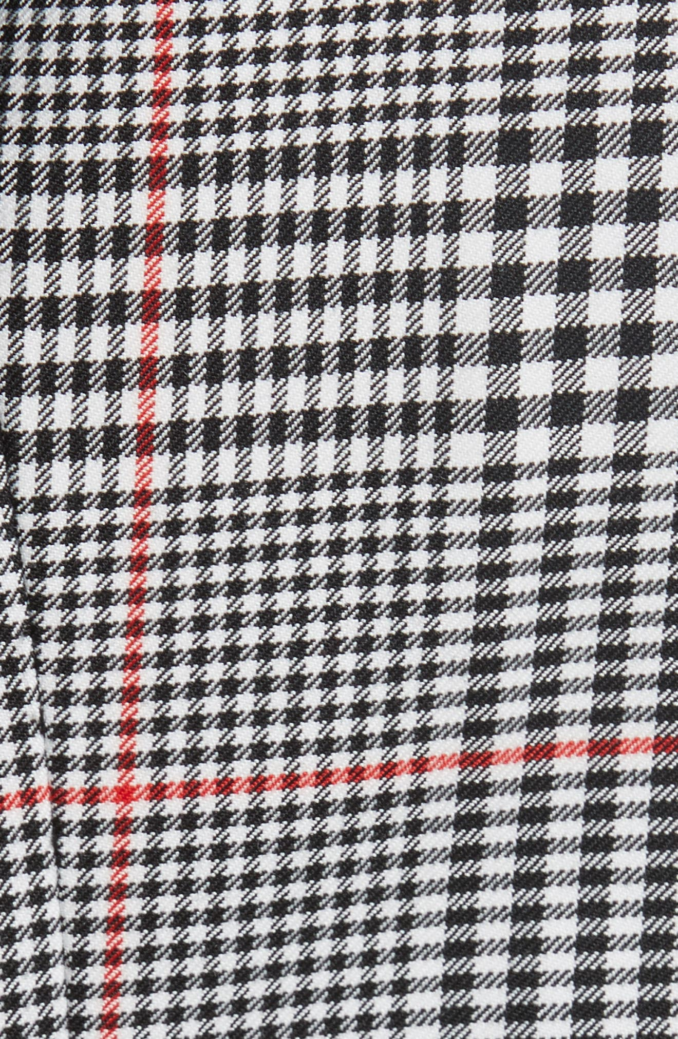 Glen Plaid Jacket Dress,                             Alternate thumbnail 6, color,                             001