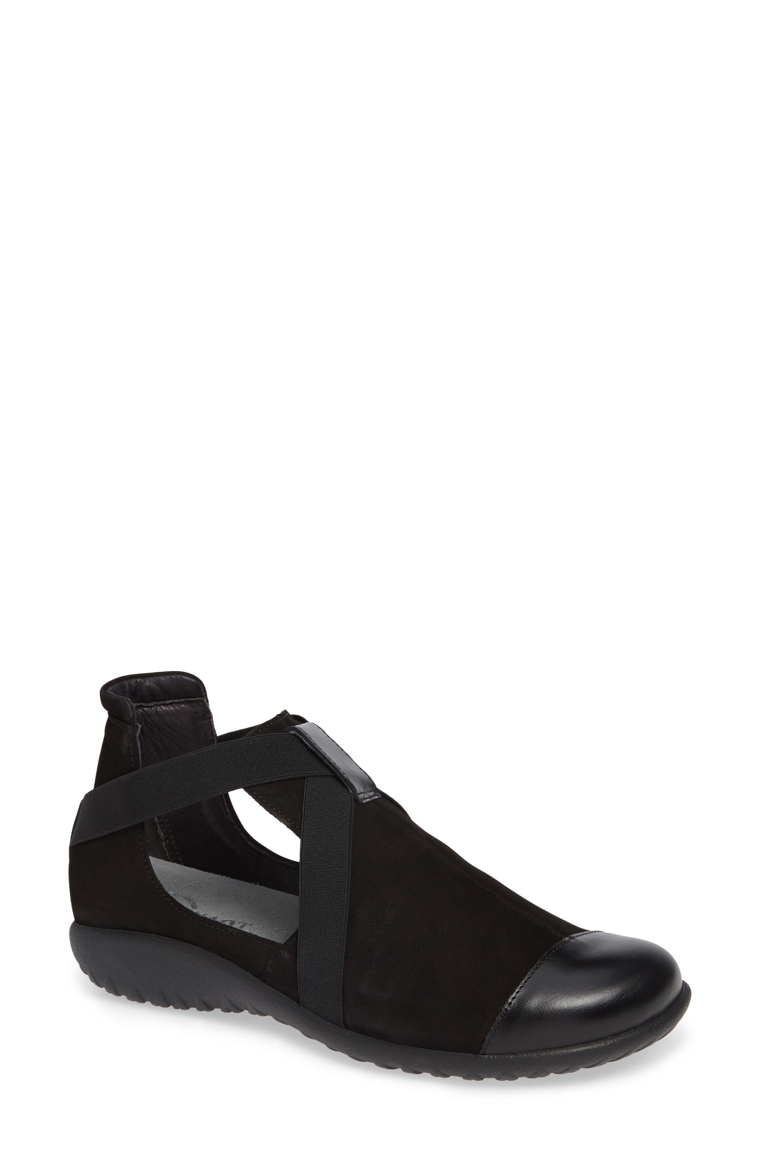 Rakua Slip On Sneaker,                             Main thumbnail 1, color,                             BLACK NUBUCK