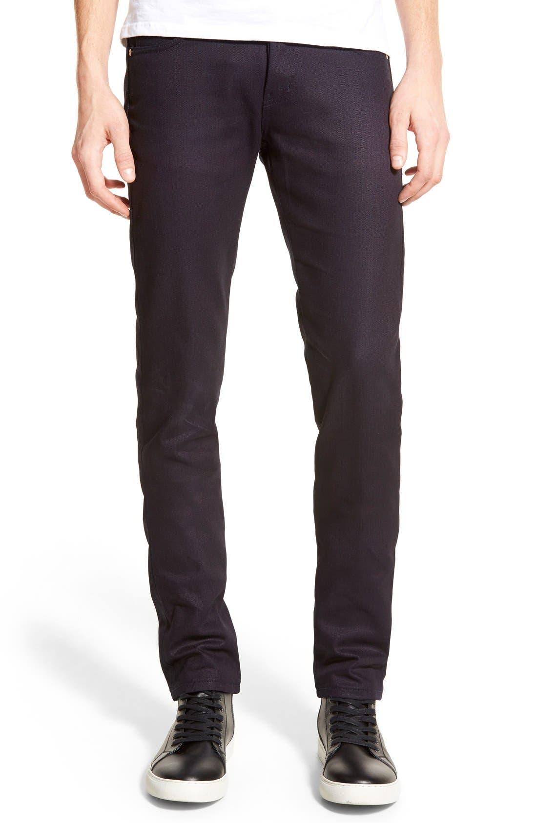 Super Skinny Guy Skinny Fit Jeans,                             Main thumbnail 1, color,                             INDIGO STRETCH SELVEDGE
