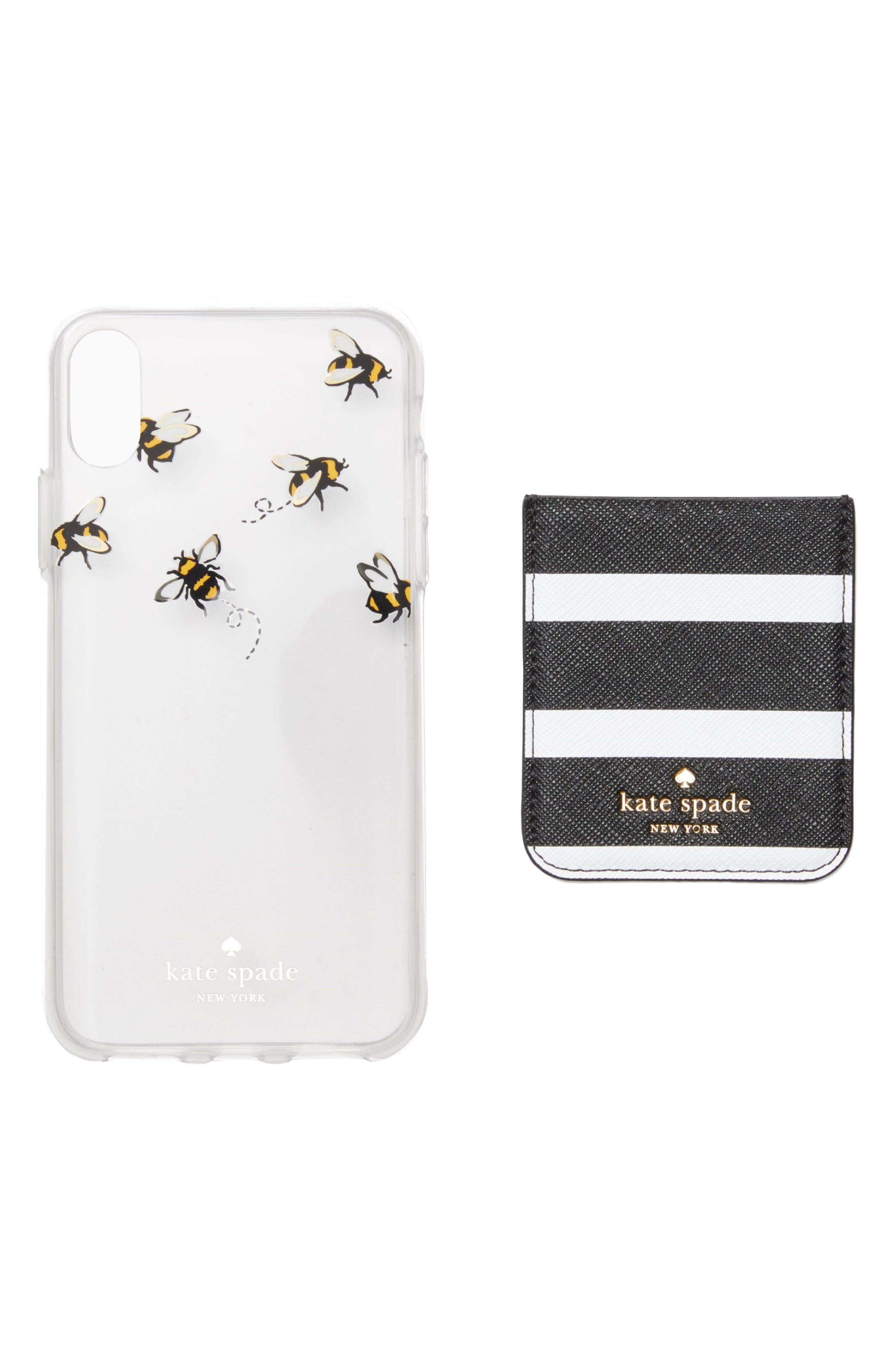 stick to it iPhone X case & sticker pocket set,                             Main thumbnail 2, color,