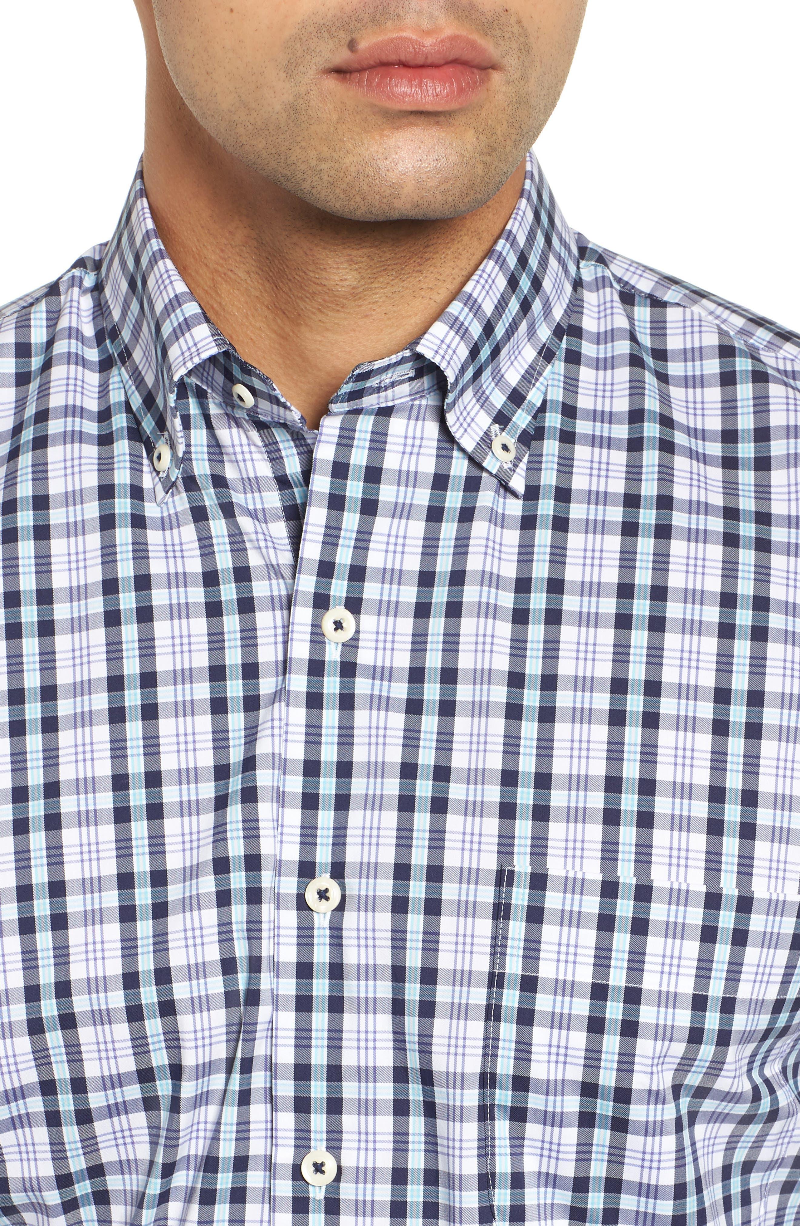 Moritz Check Sport Shirt,                             Alternate thumbnail 2, color,                             NAVY