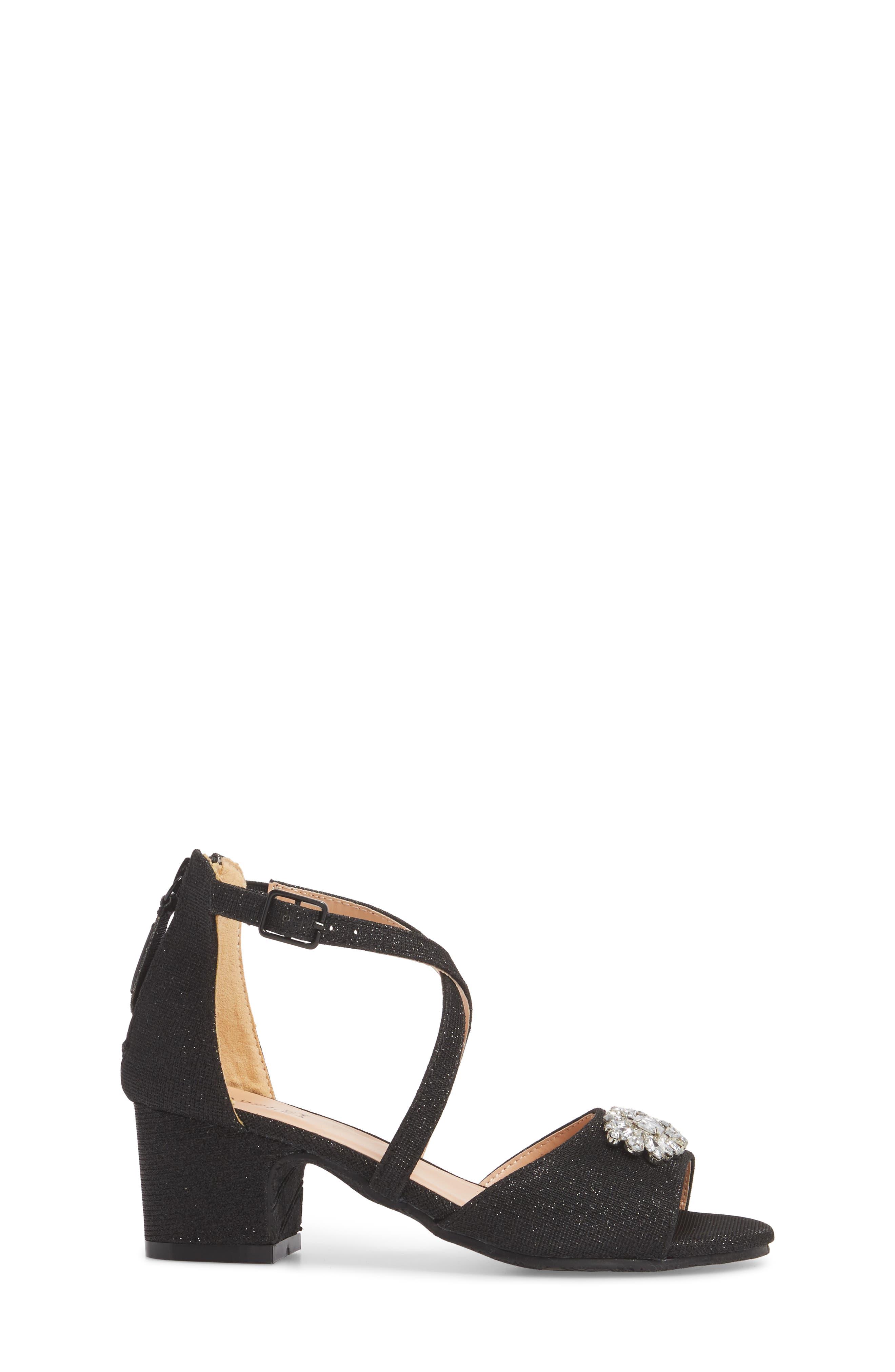 Pernia Gems Sandal,                             Alternate thumbnail 3, color,                             BLACK